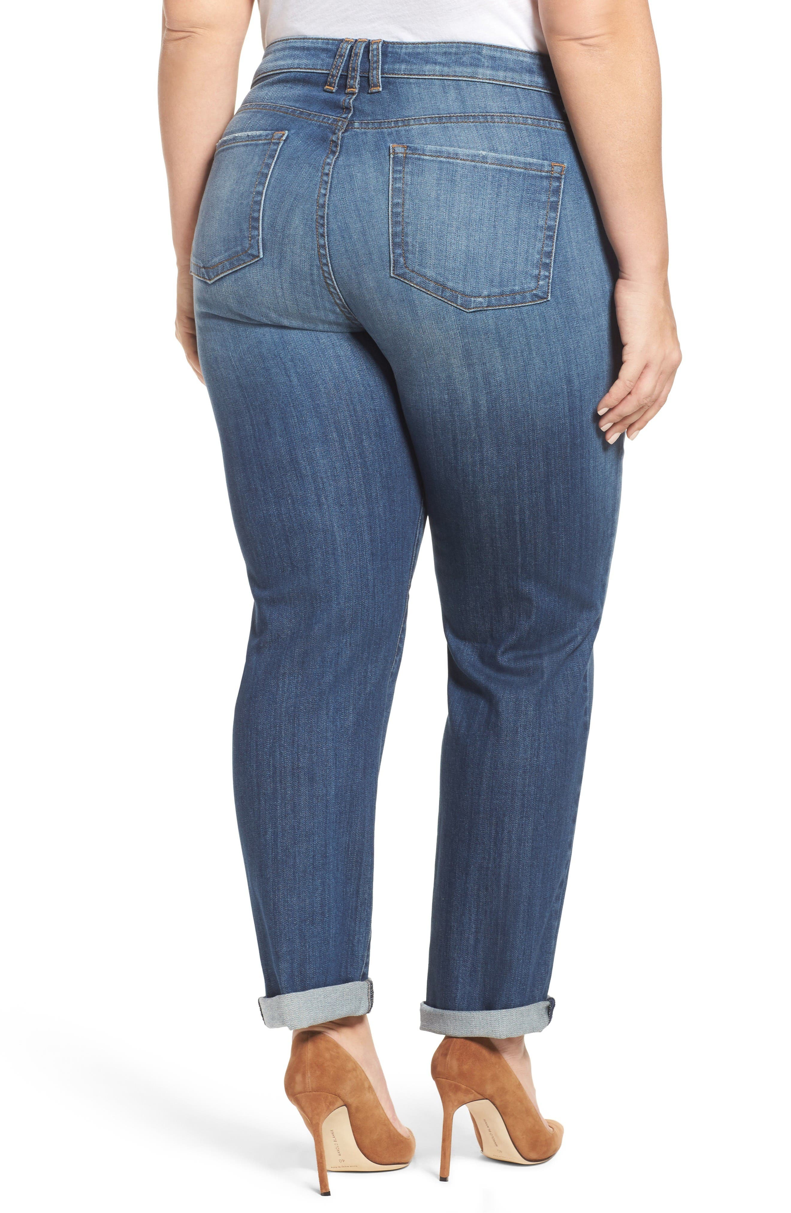 Alternate Image 2  - KUT from the Kloth Catherine Boyfriend Jeans (Doubtless) (Plus Size)