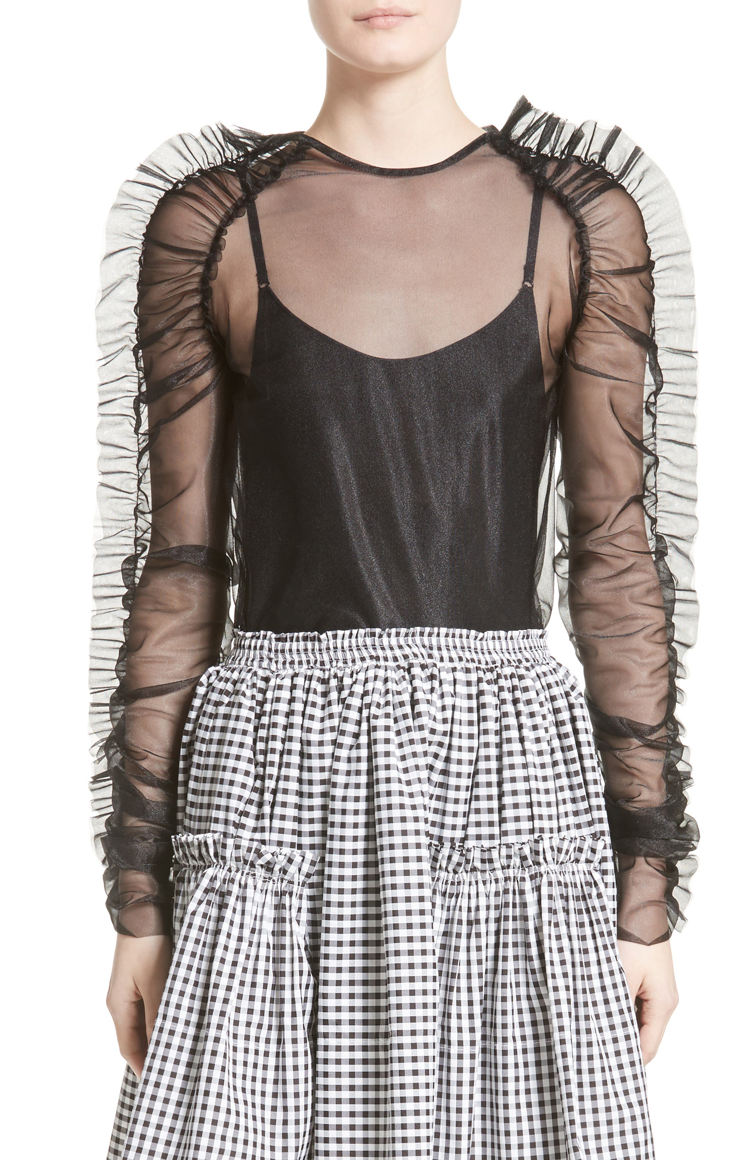 Alternate Image 1 Selected - Molly Goddard Stanley Tulle Top