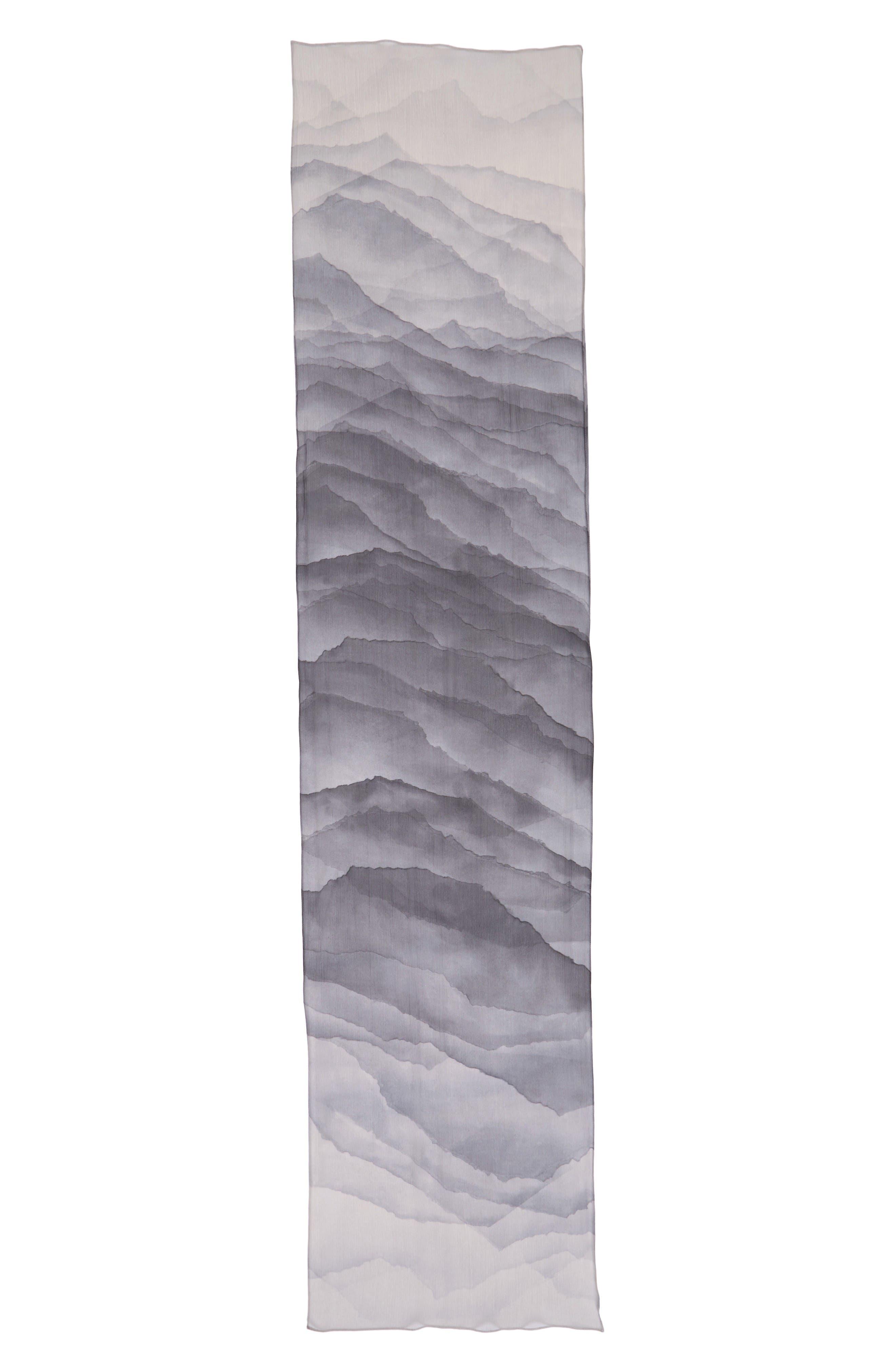 Alternate Image 2  - Nordstrom Prismatic Color Play Oblong Silk Scarf