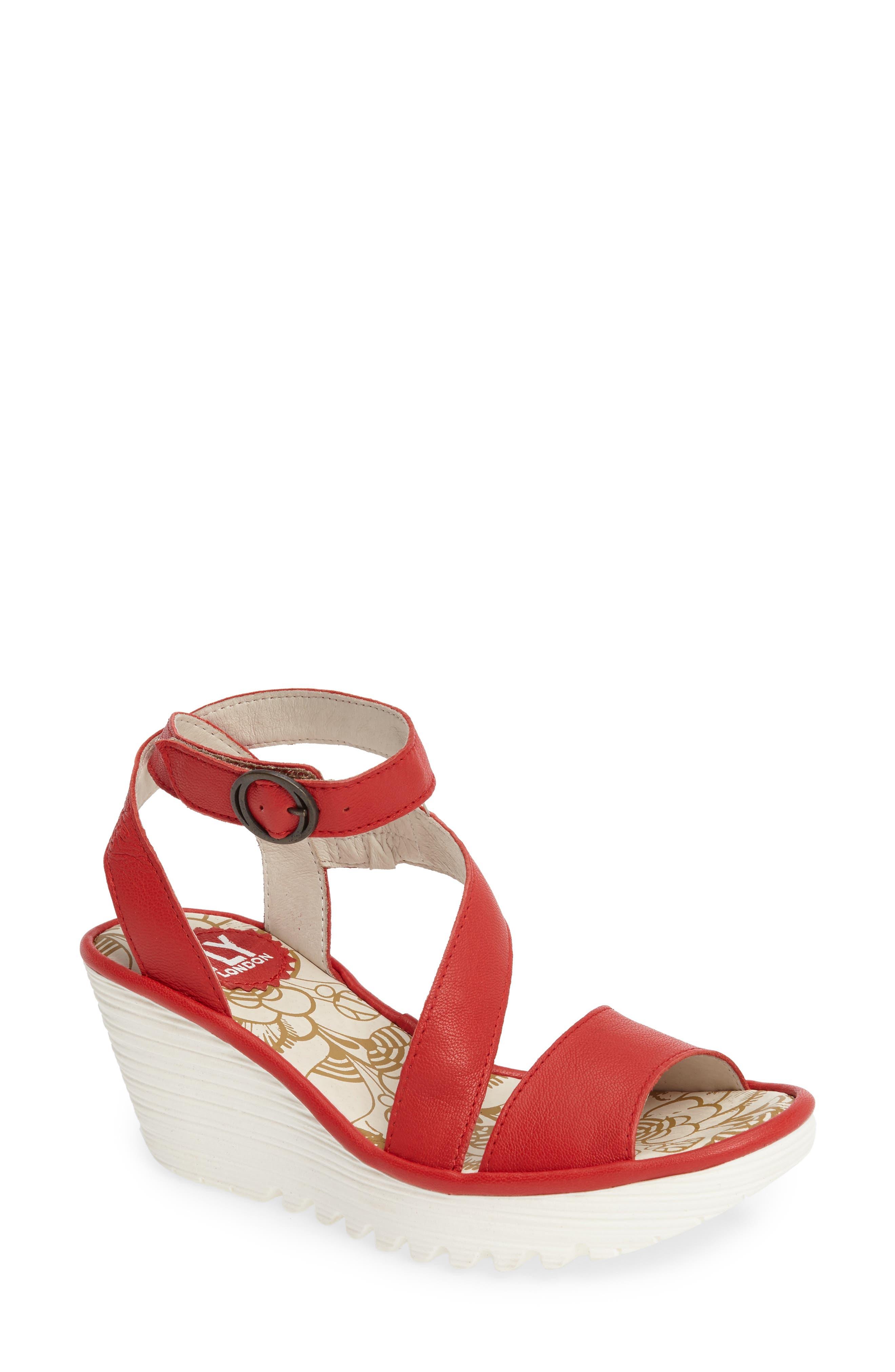 Fly London 'Yesk' Ankle Strap Wedge Sandal (Women)