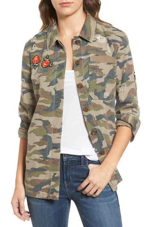 Treasure   Bond Camo Surplus Shirt Jacket