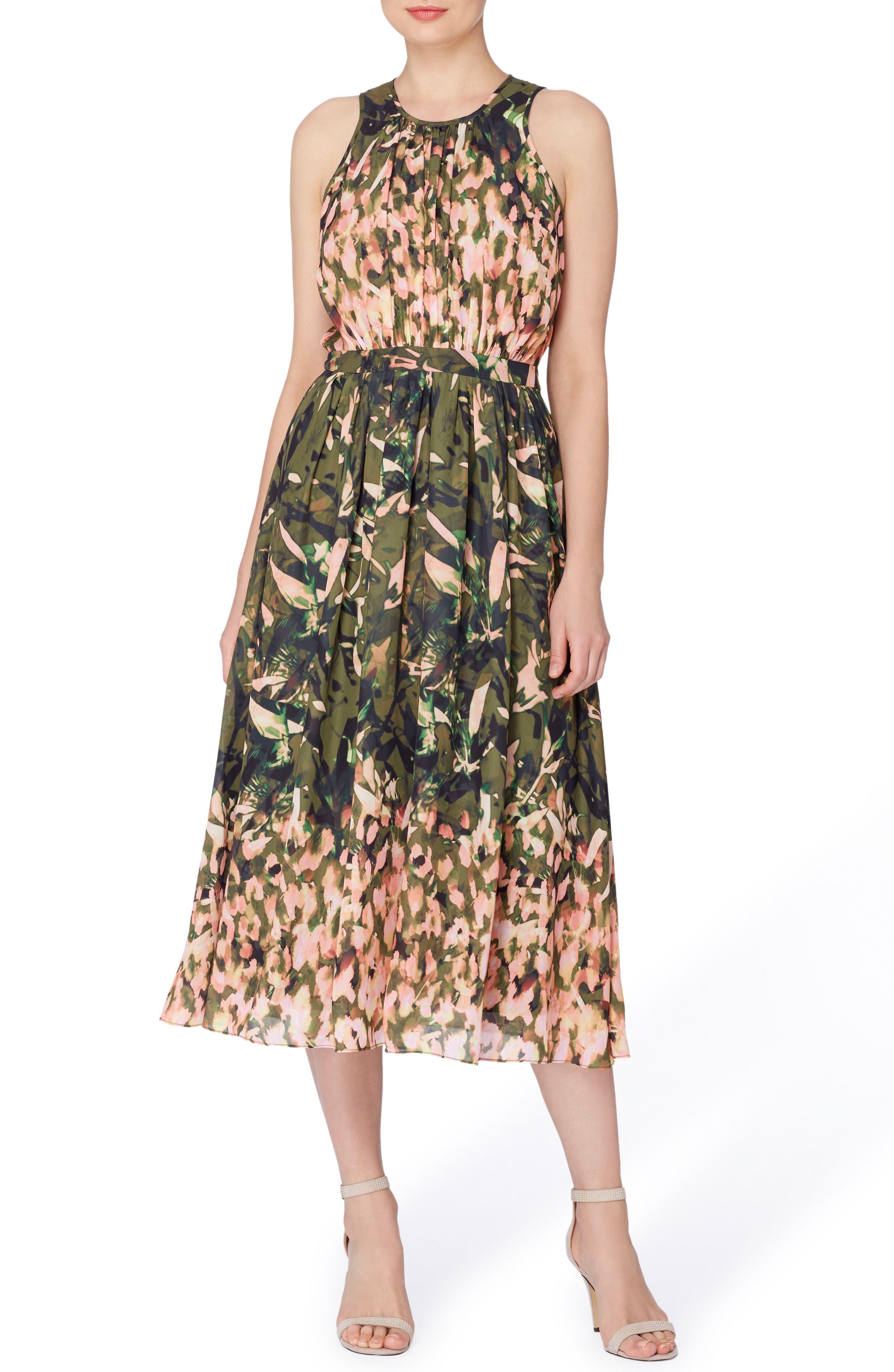Catherine Catherine Malandrino Alfie Print Fit & Flare Midi Dress