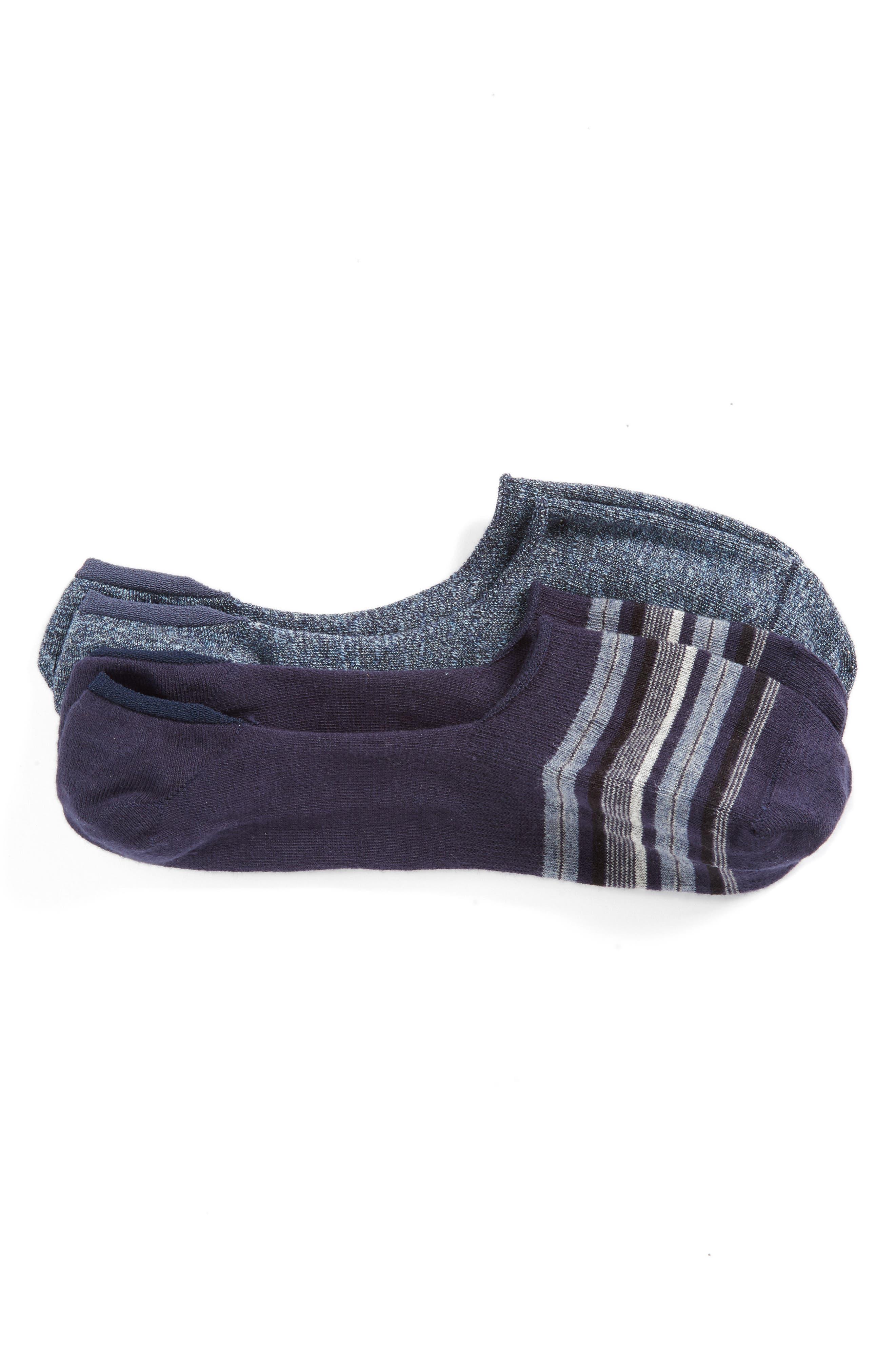 Calibrate 2-Pack Cotton Blend Liner Socks