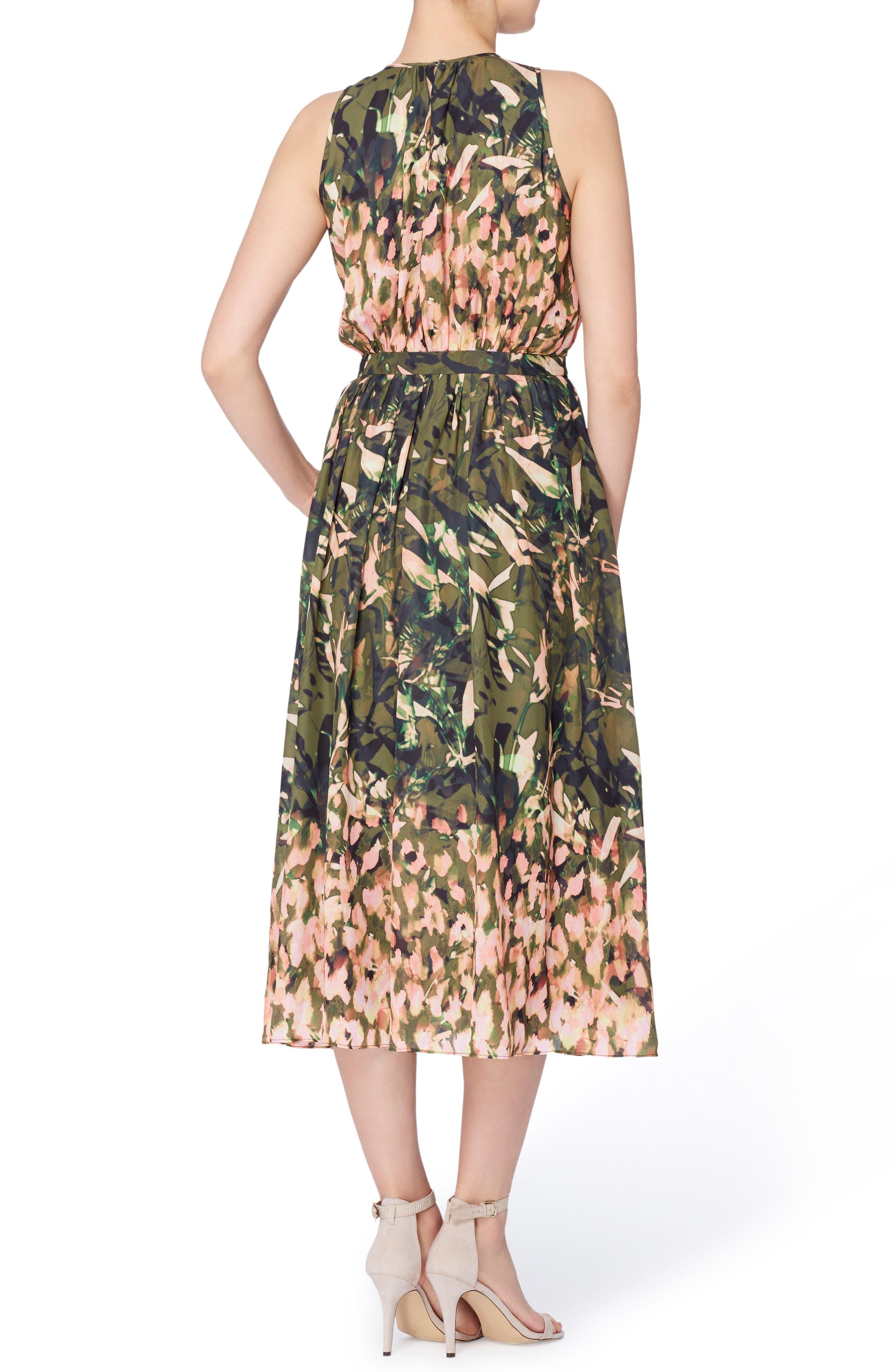 Alternate Image 2  - Catherine Catherine Malandrino Alfie Print Fit & Flare Midi Dress