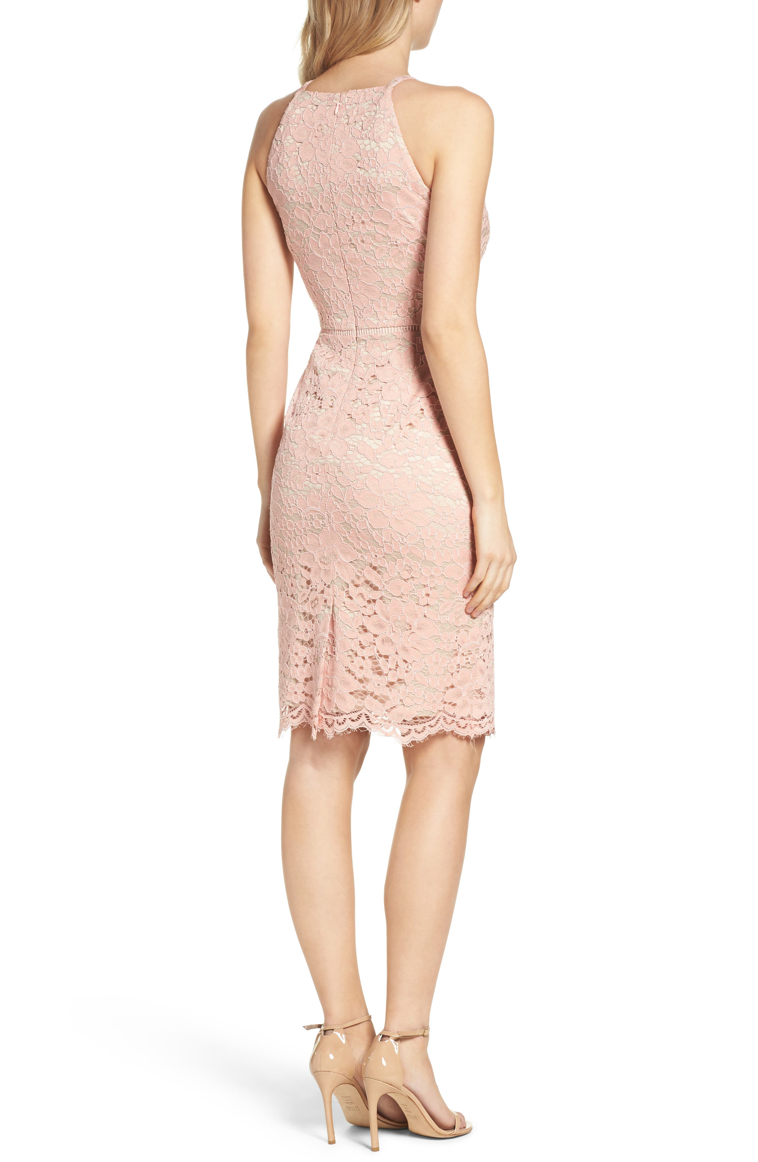 Alternate Image 2  - Vince Camuto Lace Sheath Dress
