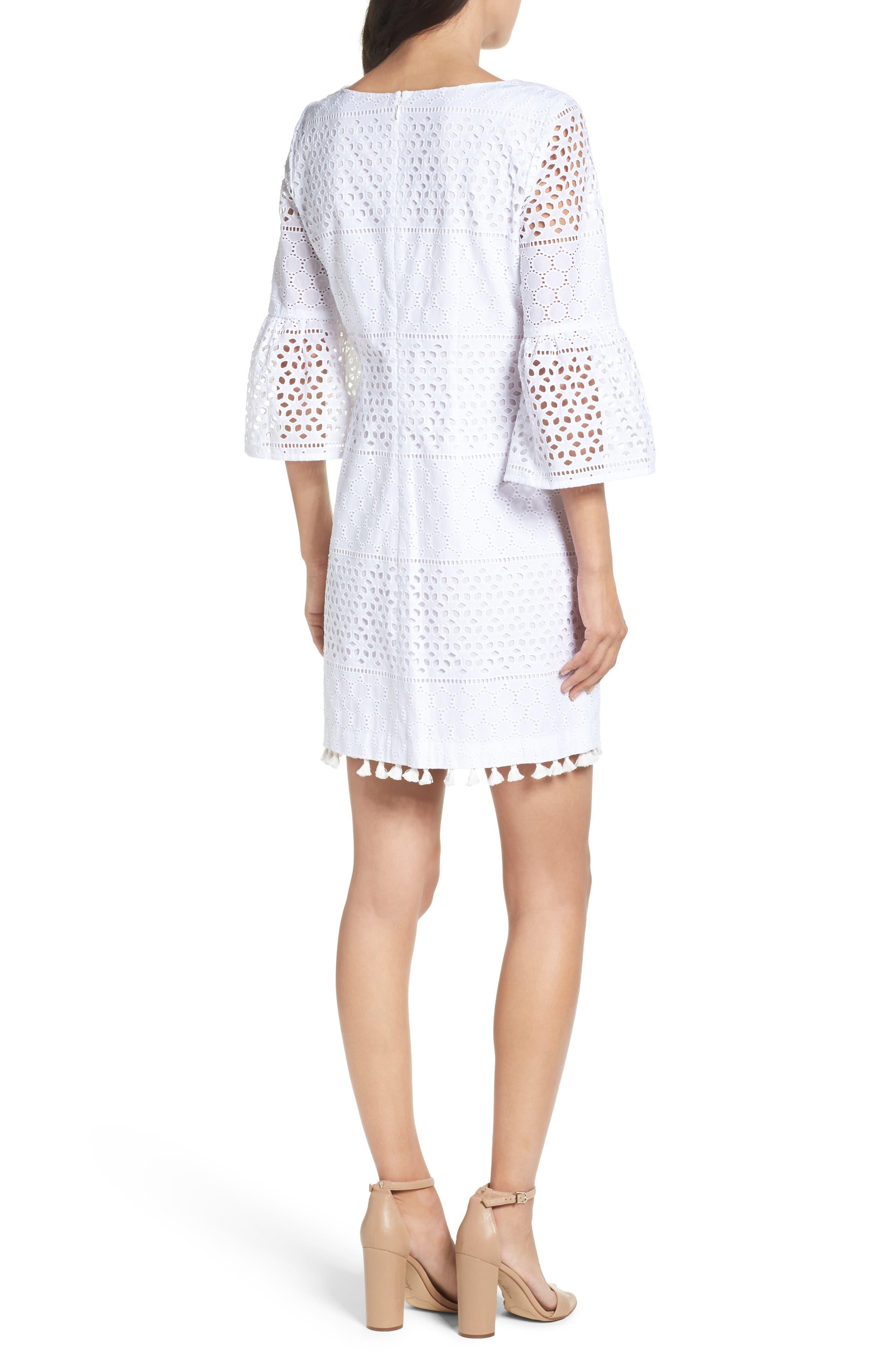 Alternate Image 2  - Vince Camuto Eyelet A-Line Dress (Regular & Petite)