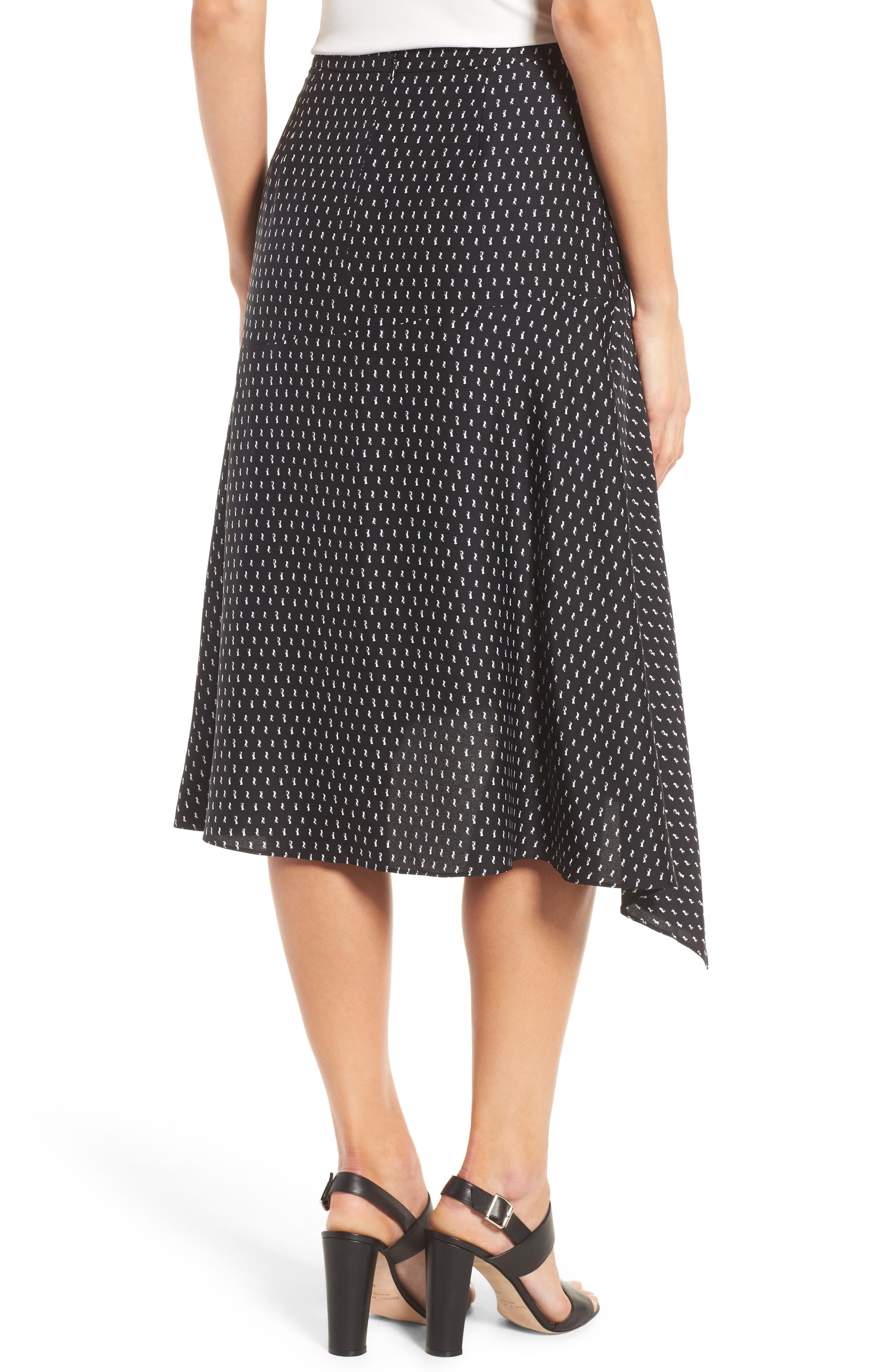 Alternate Image 3  - Classiques Entier® Stretch Silk Midi Skirt