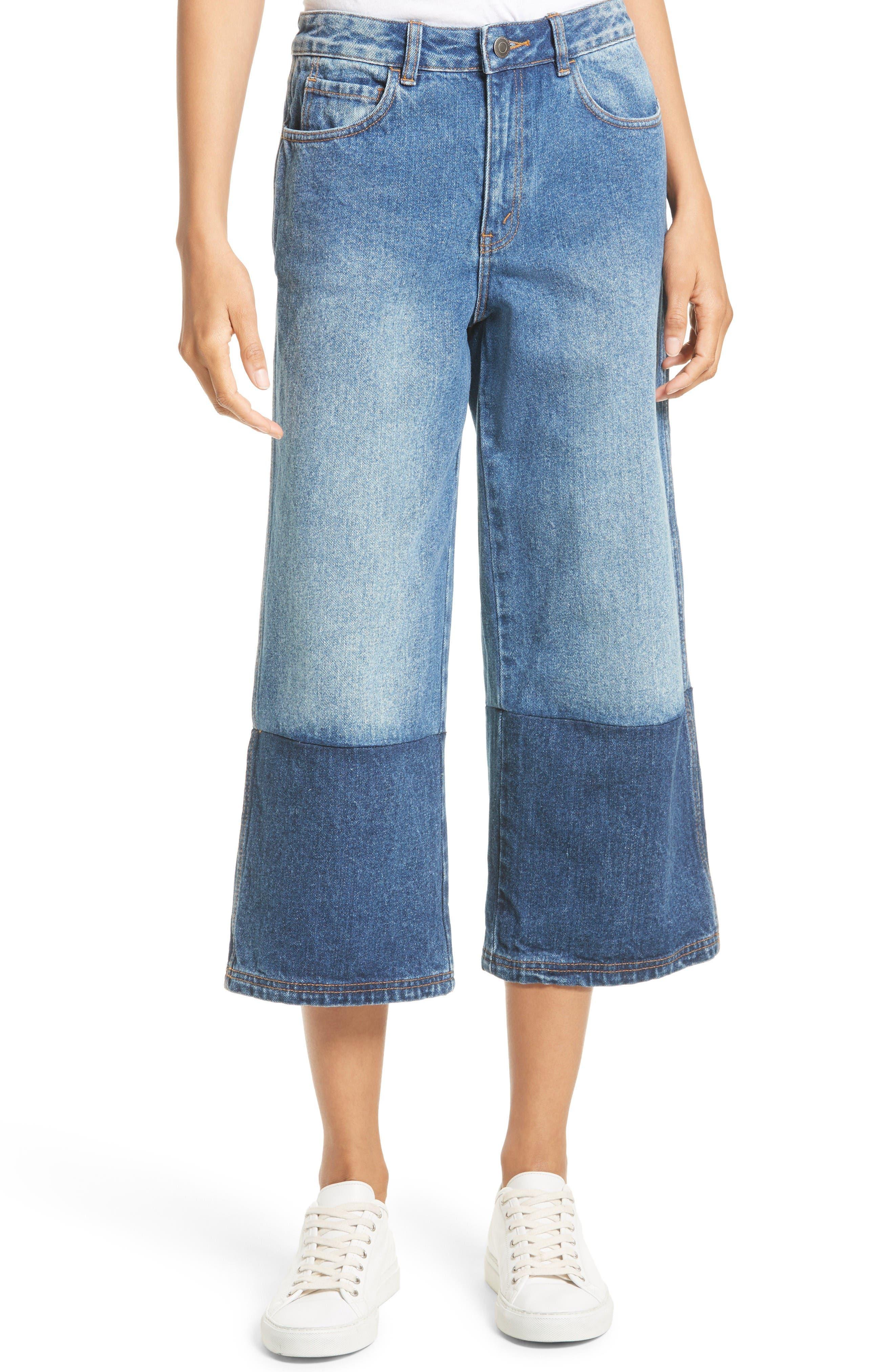 Main Image - Robert Rodriguez Two-Tone Gaucho Jeans