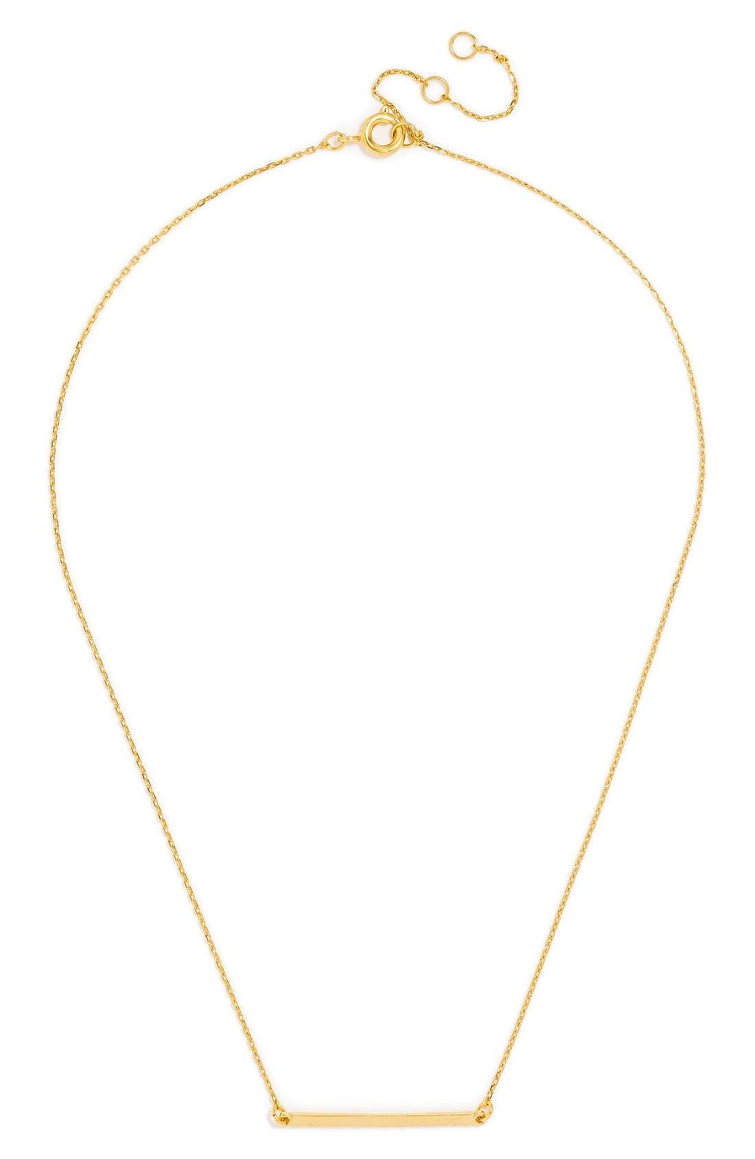 Alternate Image 1 Selected - BaubleBar Solid Bar Pendant Necklace