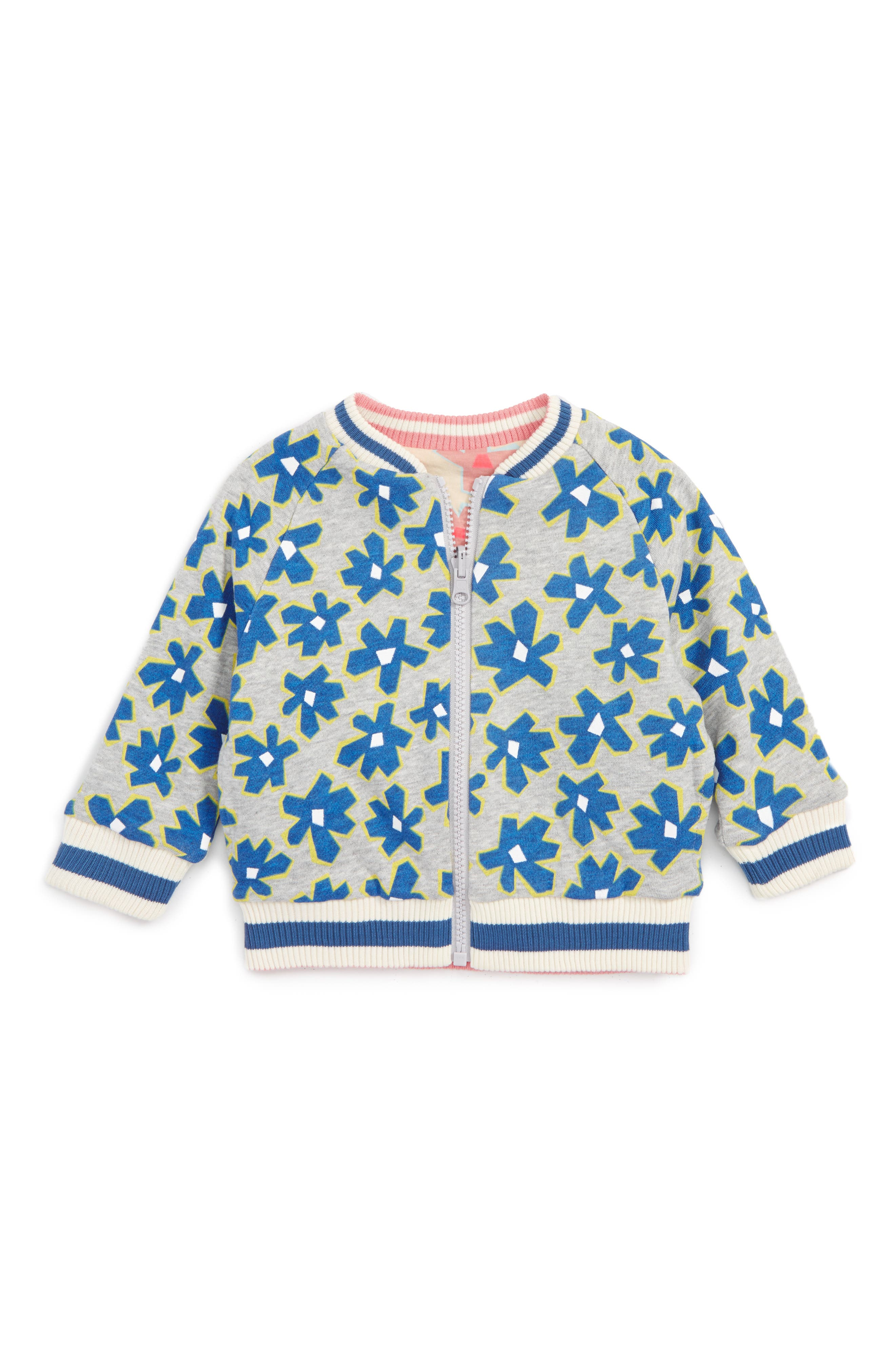 Stella McCartney Kids Daisy Print Reversible Bomber Jacket (Baby Girls)