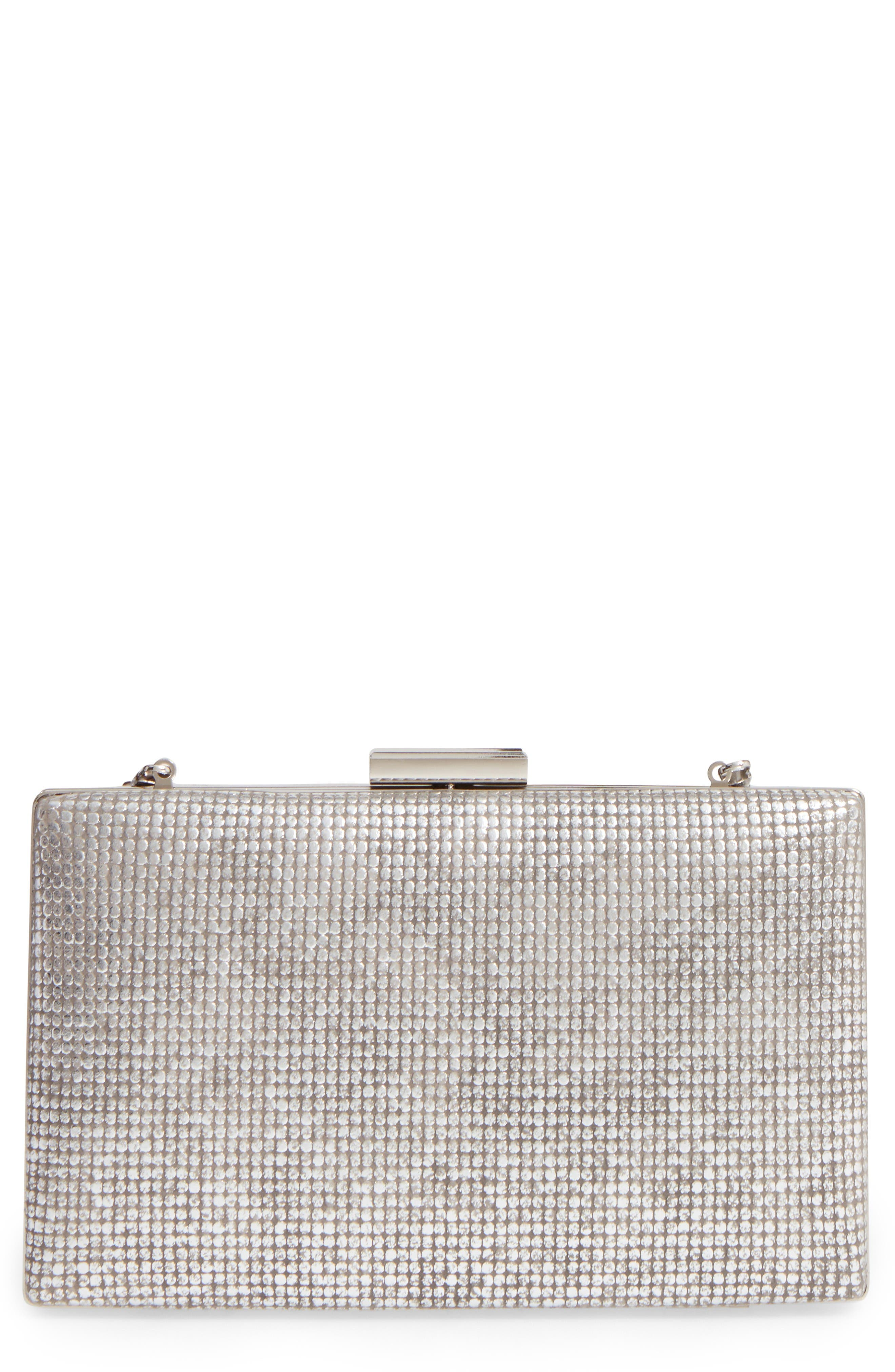 Main Image - Sondra Roberts Embossed Metallic Box Clutch