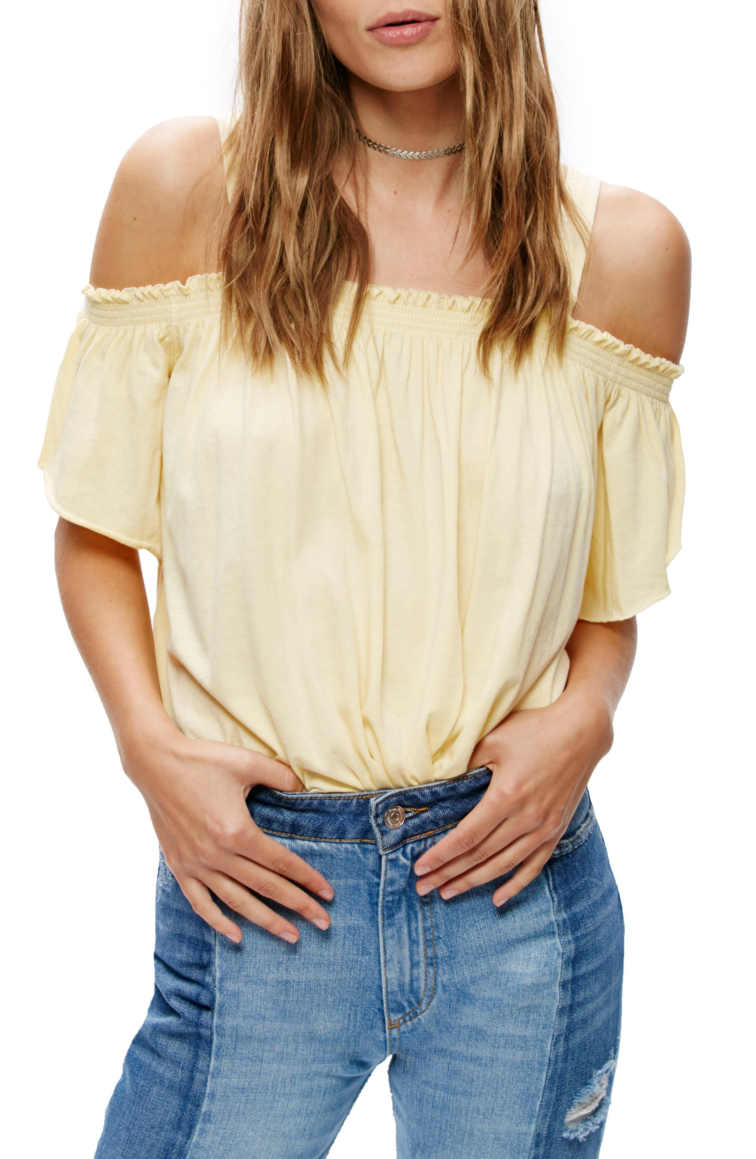 Main Image - Free People Darling Off the Shoulder Top