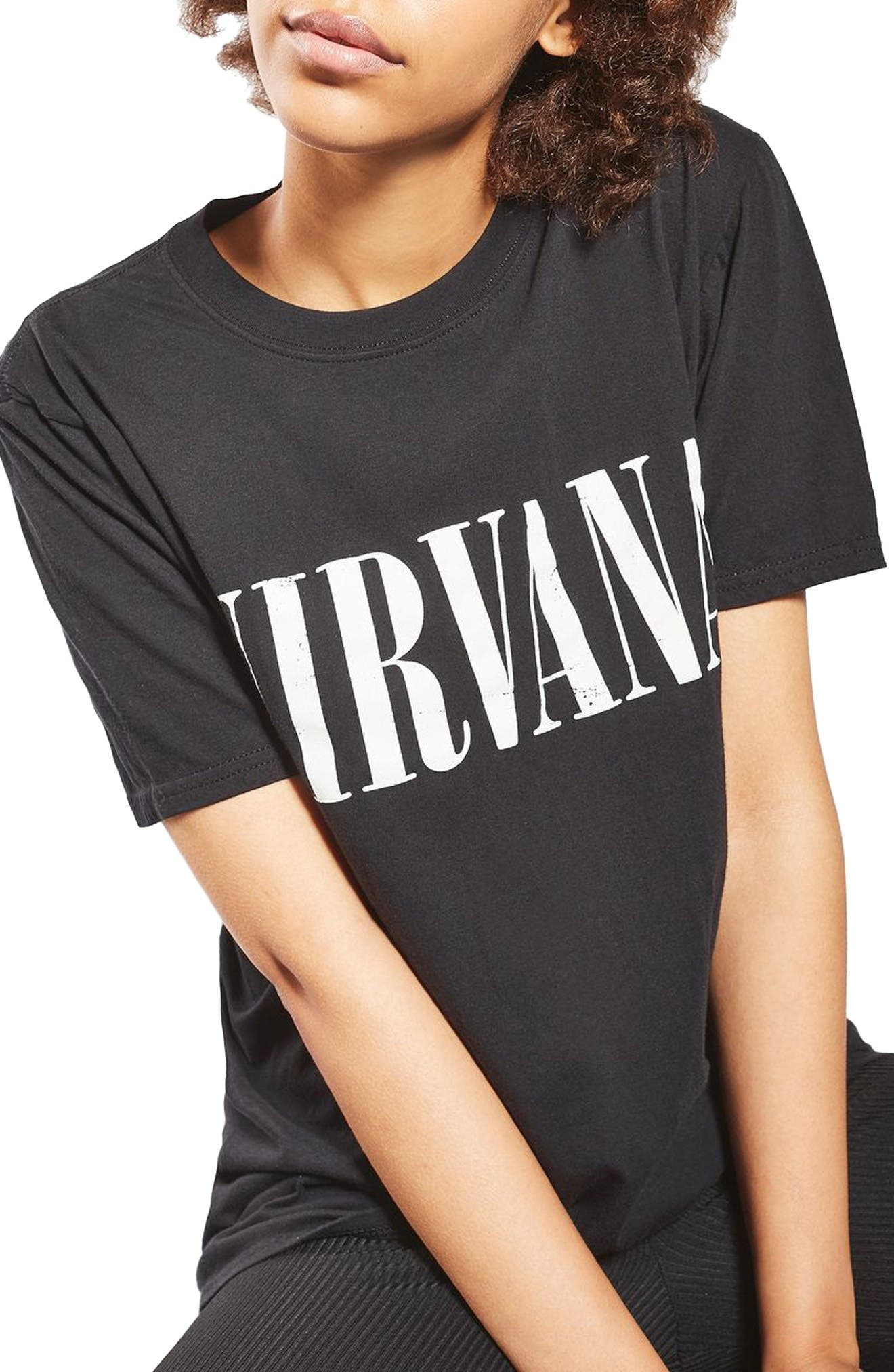 Topshop by And Finally Nirvana Nibbled Tee (Regular & Petite)