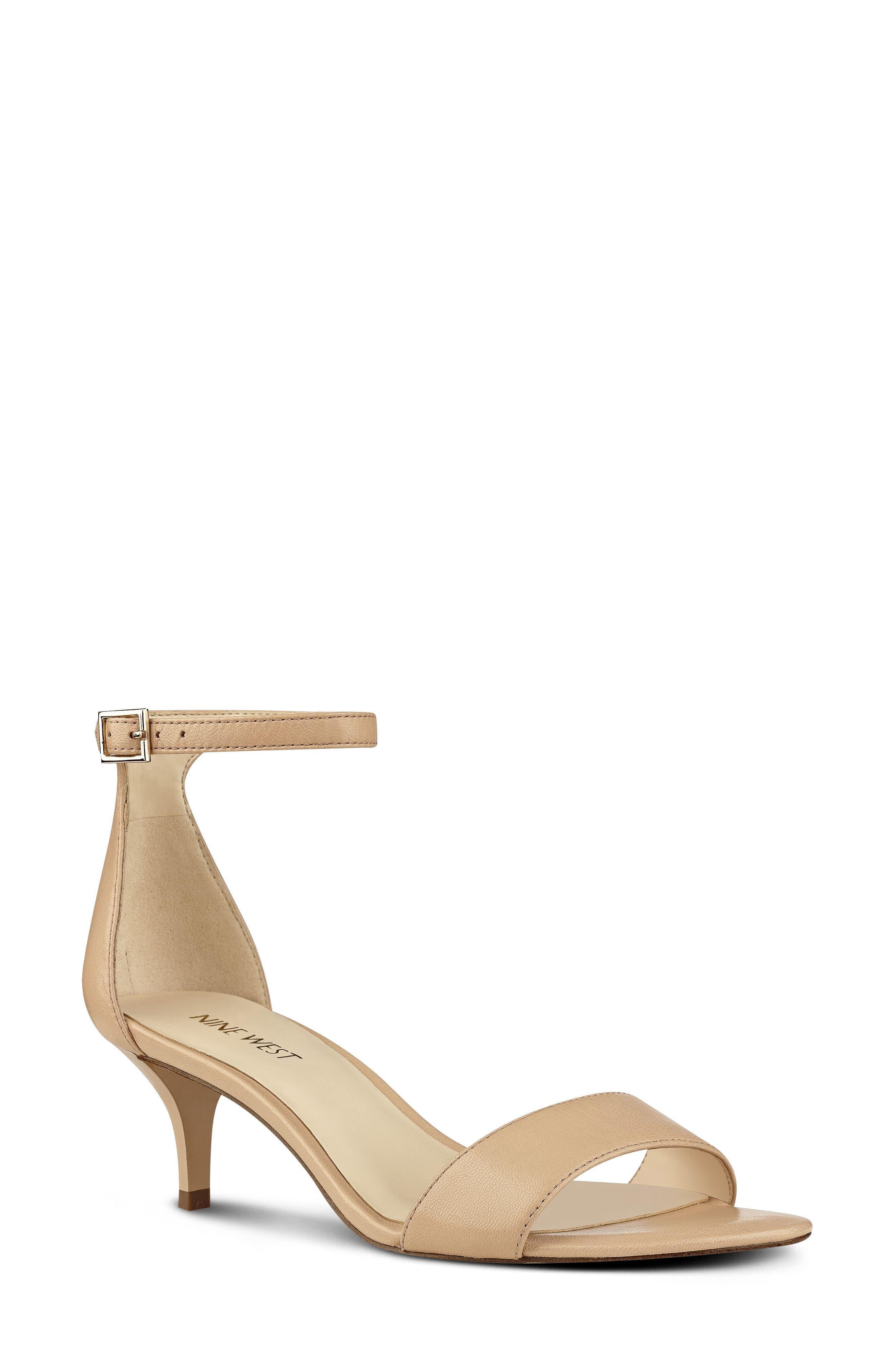 Alternate Image 1 Selected - Nine West 'Leisa' Ankle Strap Sandal (Women)