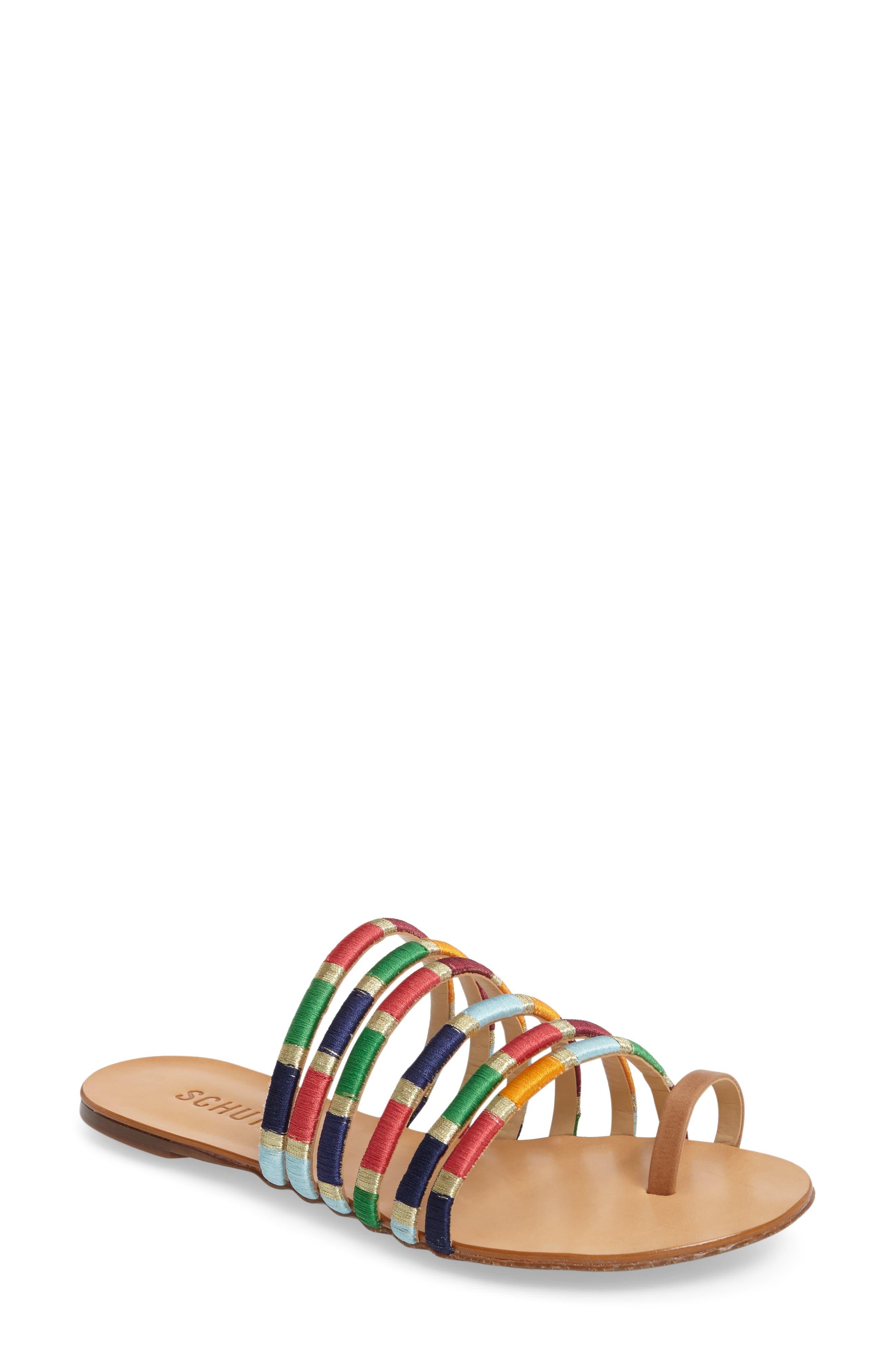 Schutz Carmem Strappy Slide Sandal (Women)