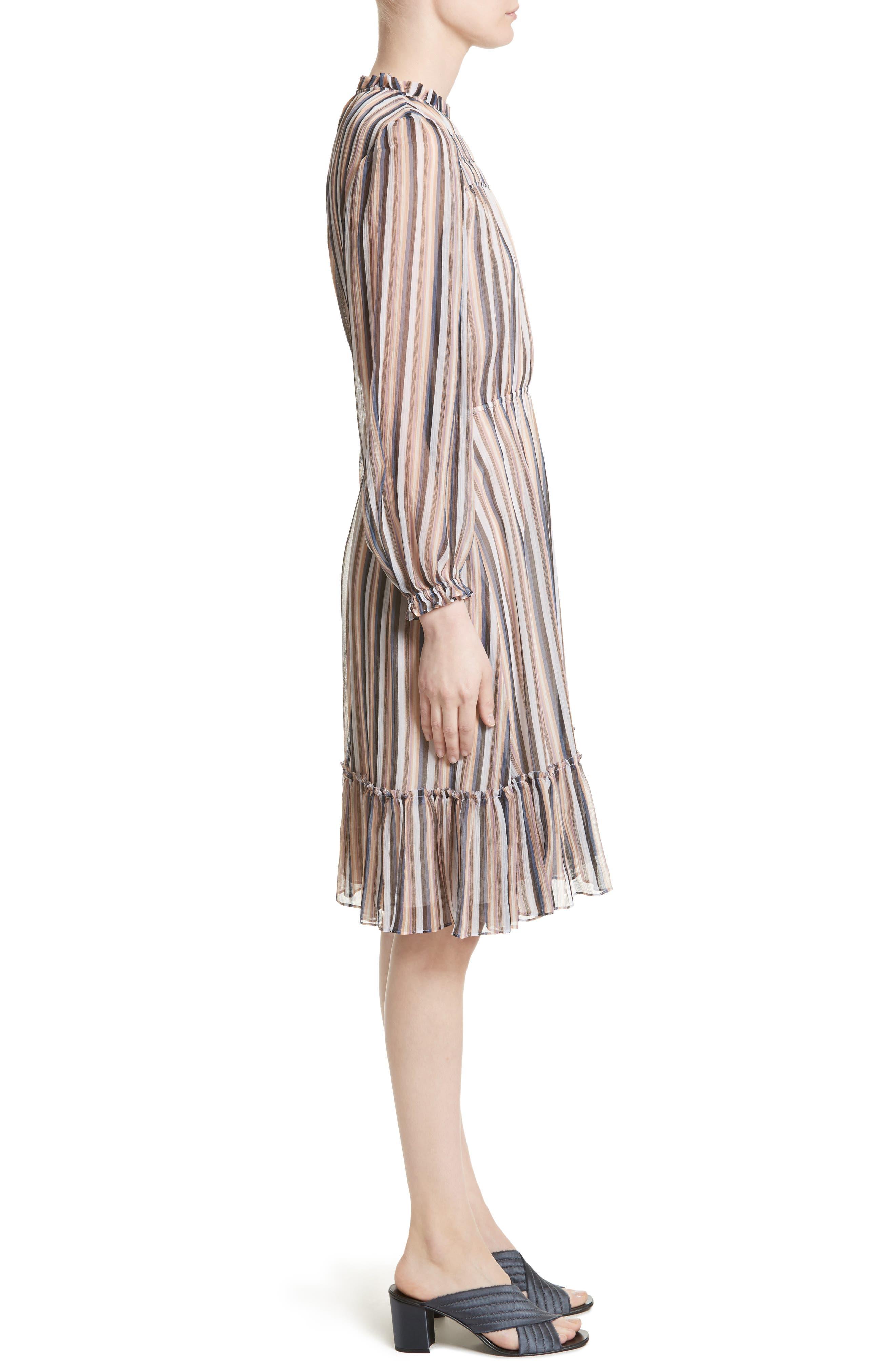 Alternate Image 3  - Derek Lam 10 Crosby Stripe Ruffle Dress