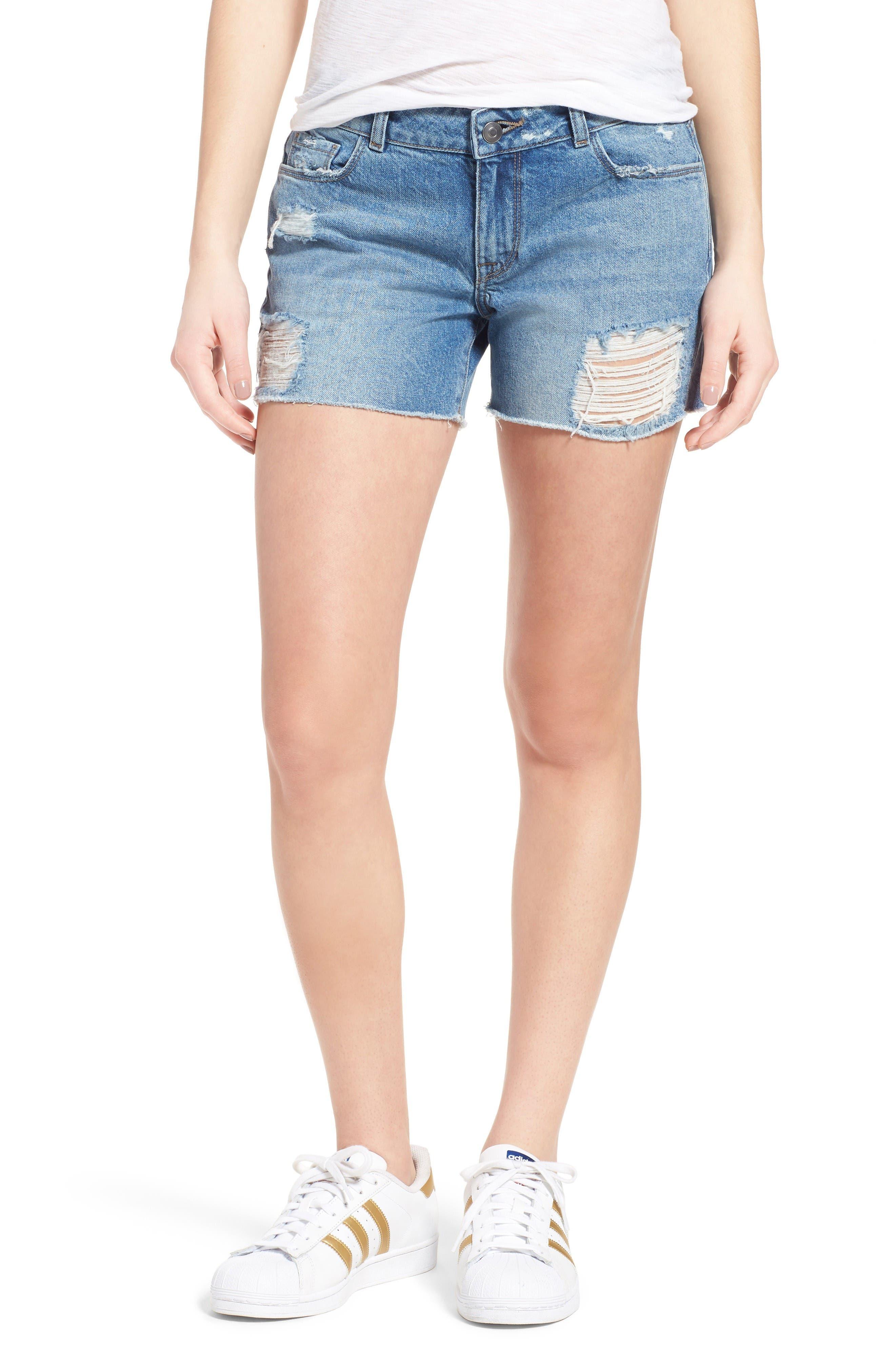 DL1961 Karlie Denim Boyfriend Shorts (Sprawling)