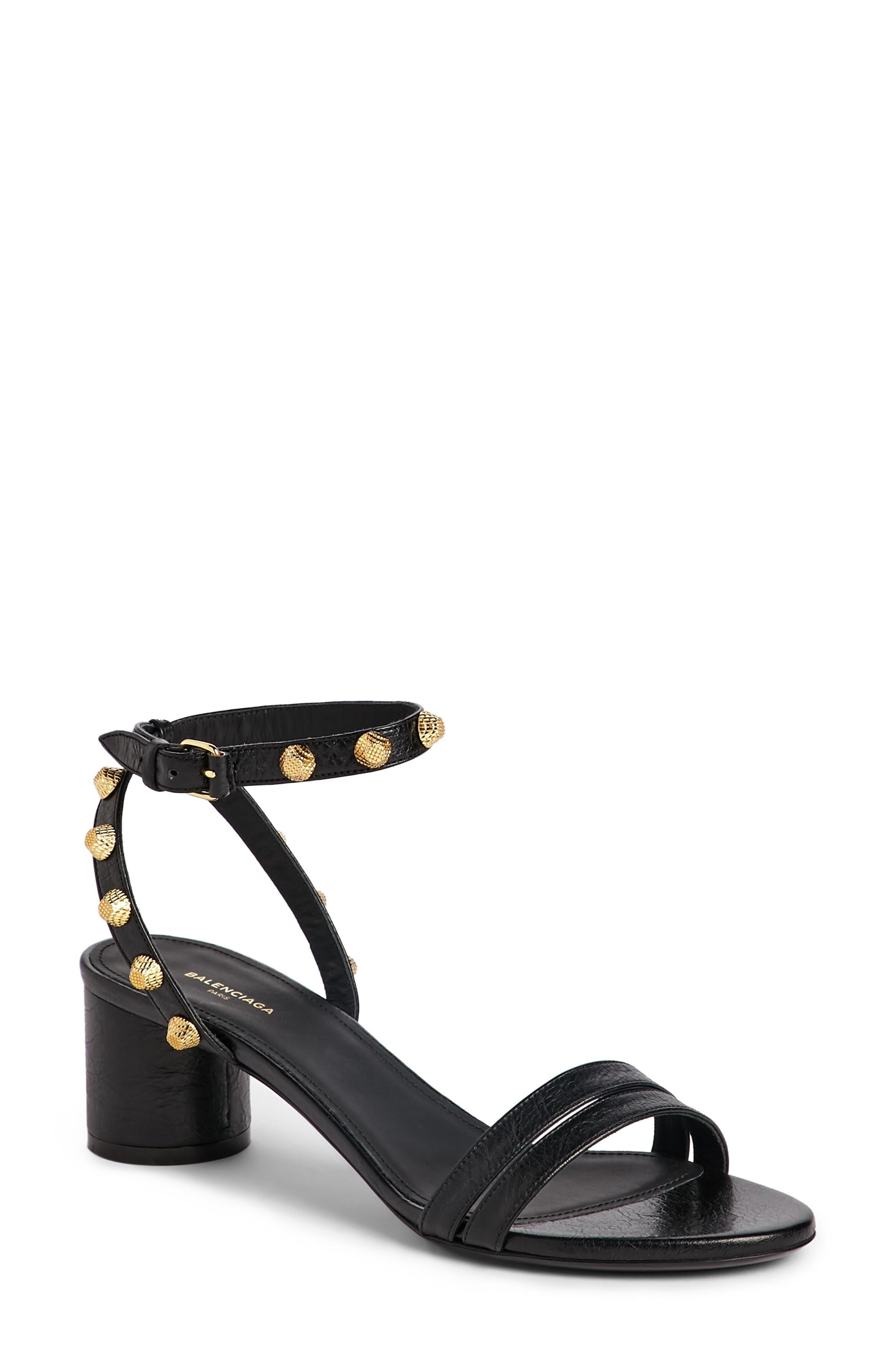 Balenciaga Studded Ankle Strap Sandal