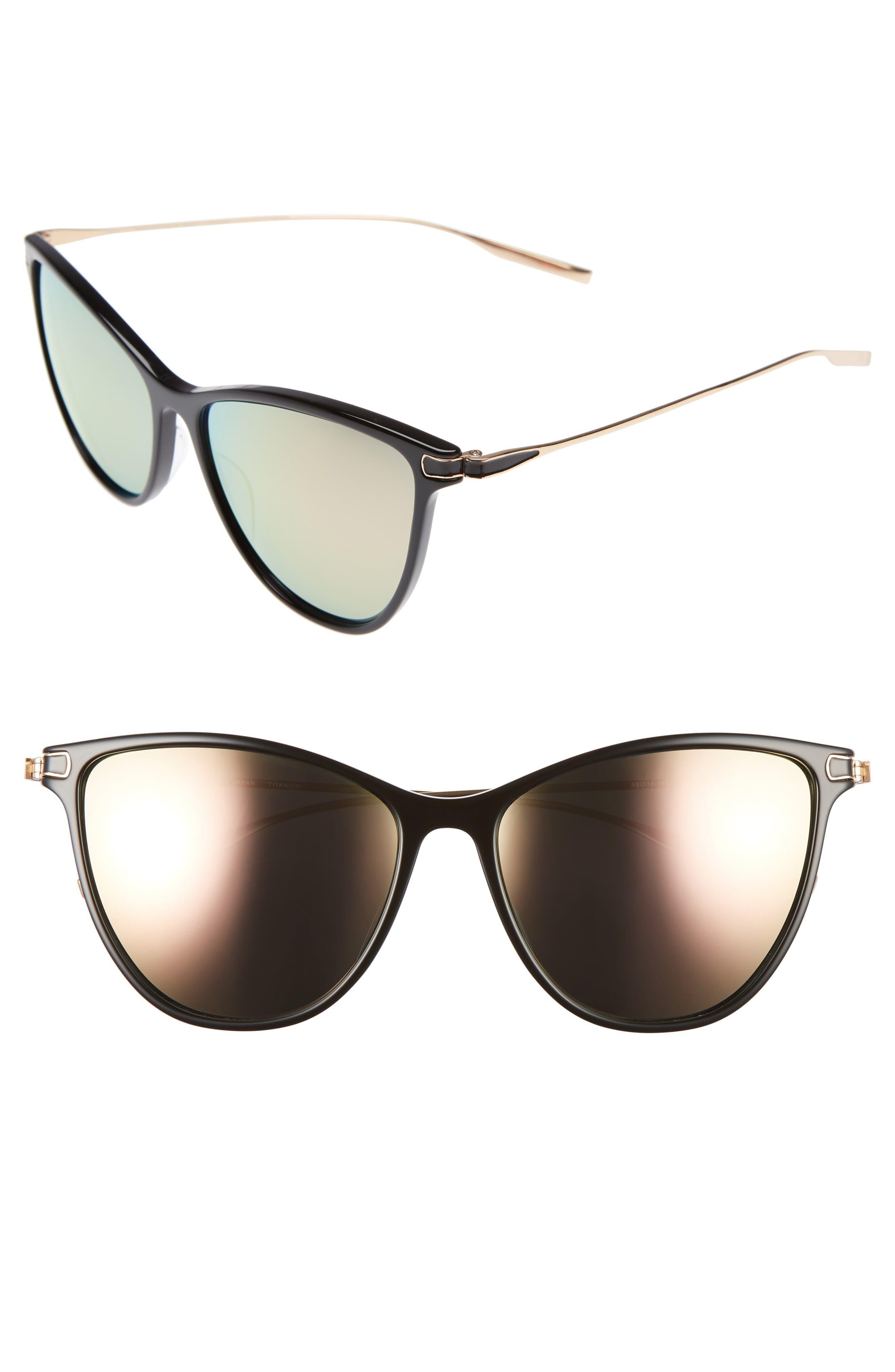 SALT Nia 58mm Polarized Cat Eye Sunglasses