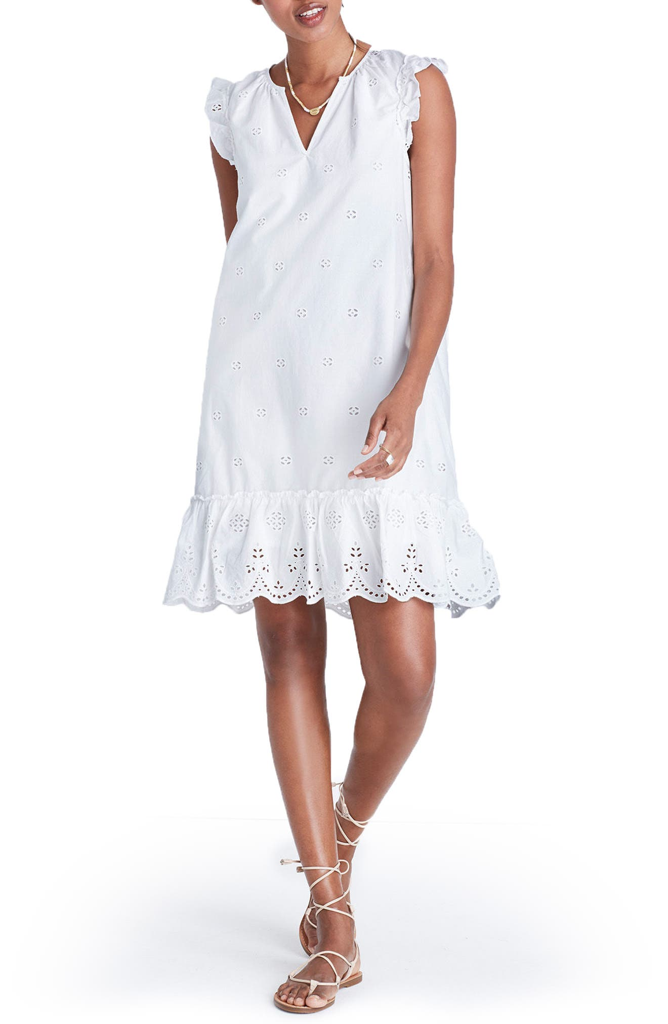 Alternate Image 1 Selected - Madewell Eyelet Garden Dress