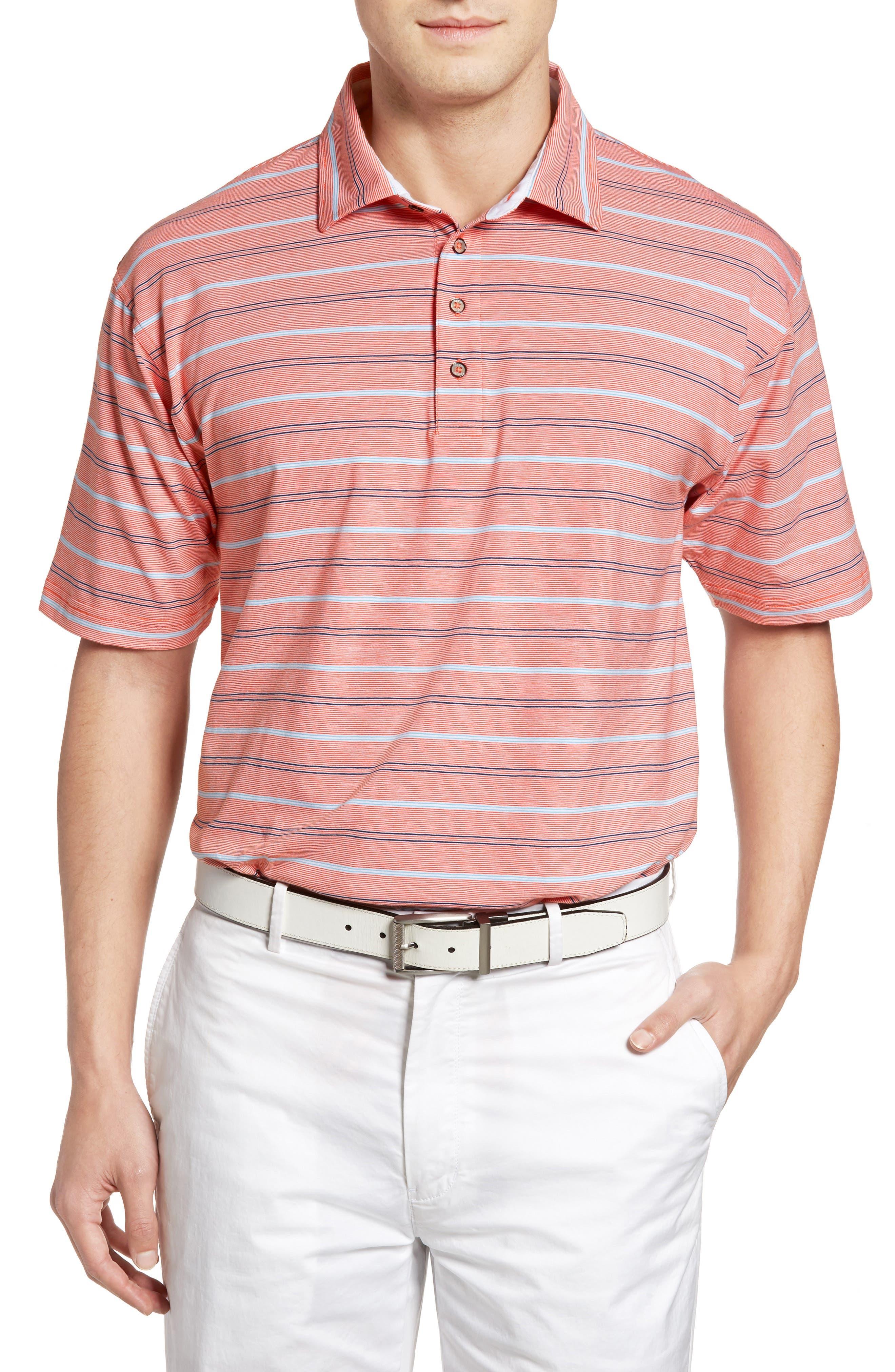 Bobby Jones Liquid Cotton Stripe Jersey Golf Polo