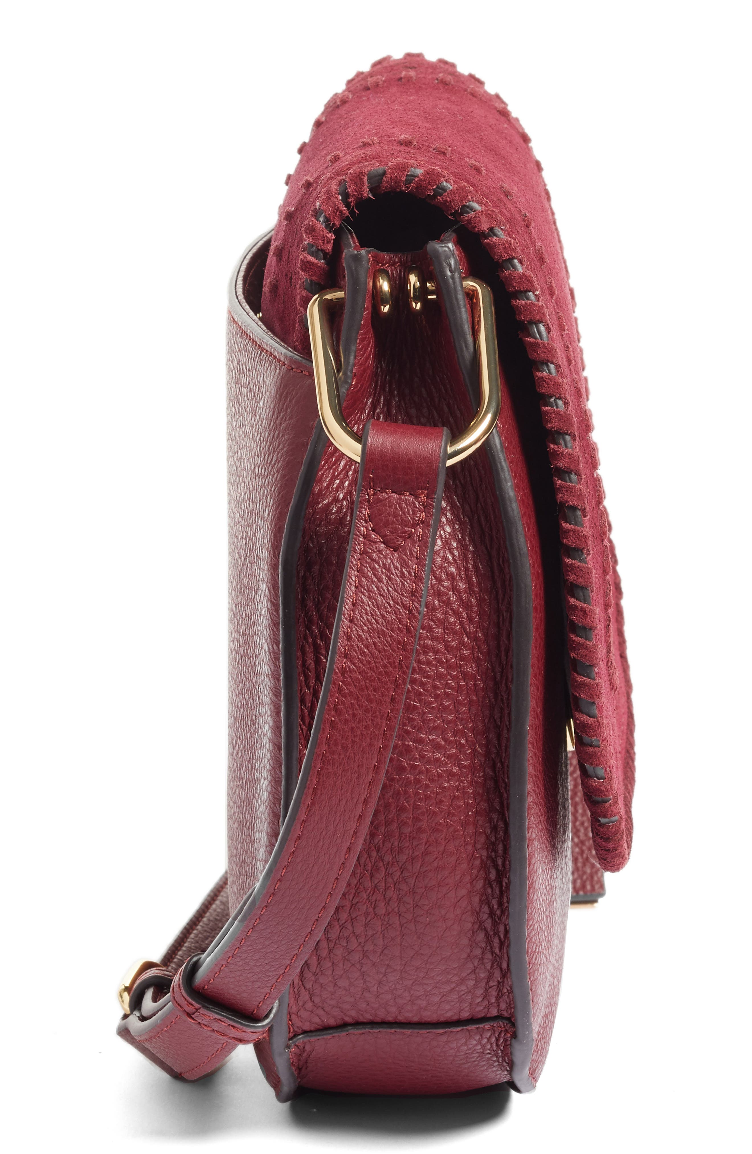 Alternate Image 5  - Vince Camuto Kirie Suede & Leather Crossbody Saddle Bag (Nordstrom Exclusive)