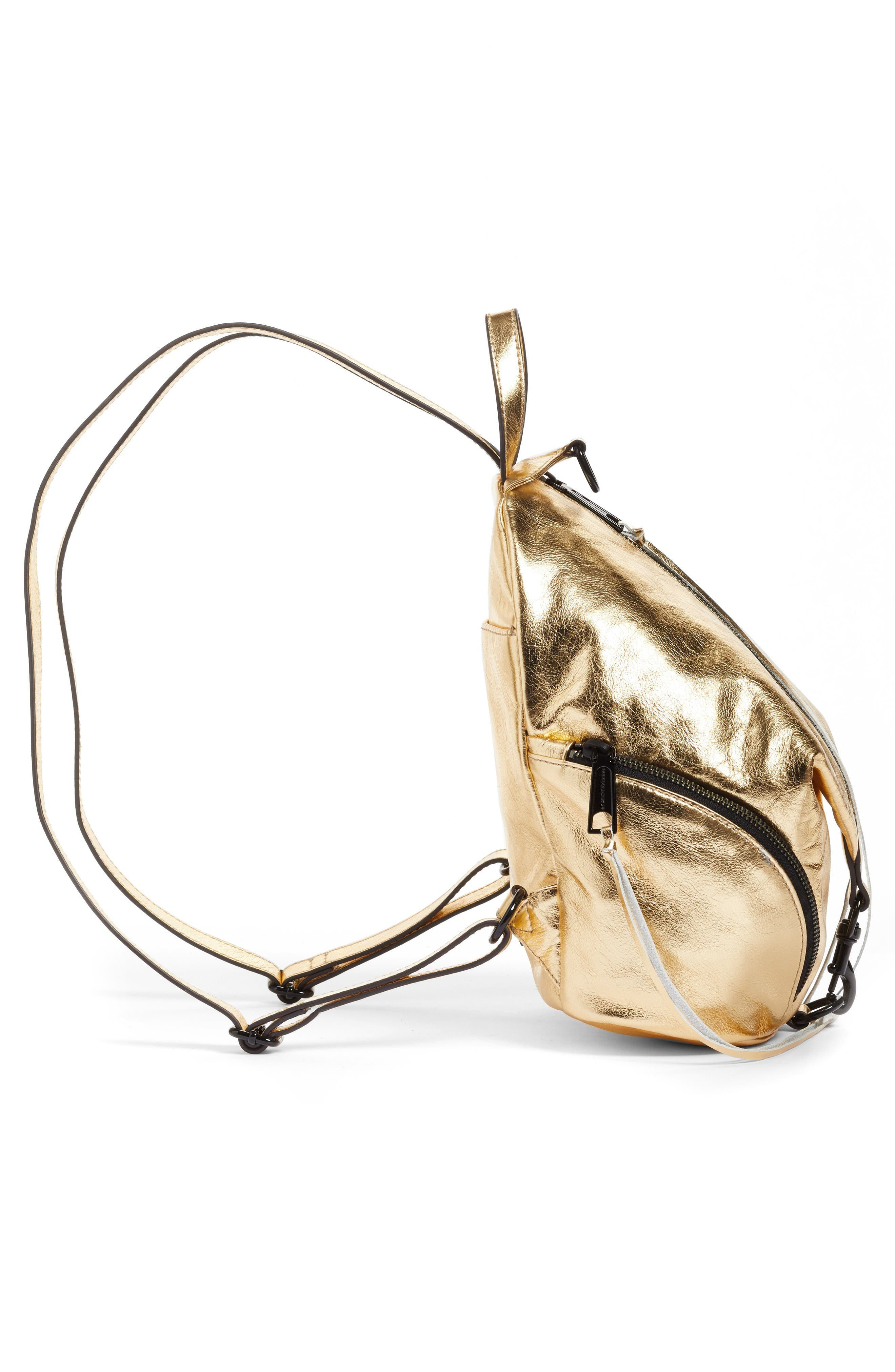 Alternate Image 5  - Rebecca Minkoff Medium Julian Metallic Leather Backpack (Nordstrom Exclusive)