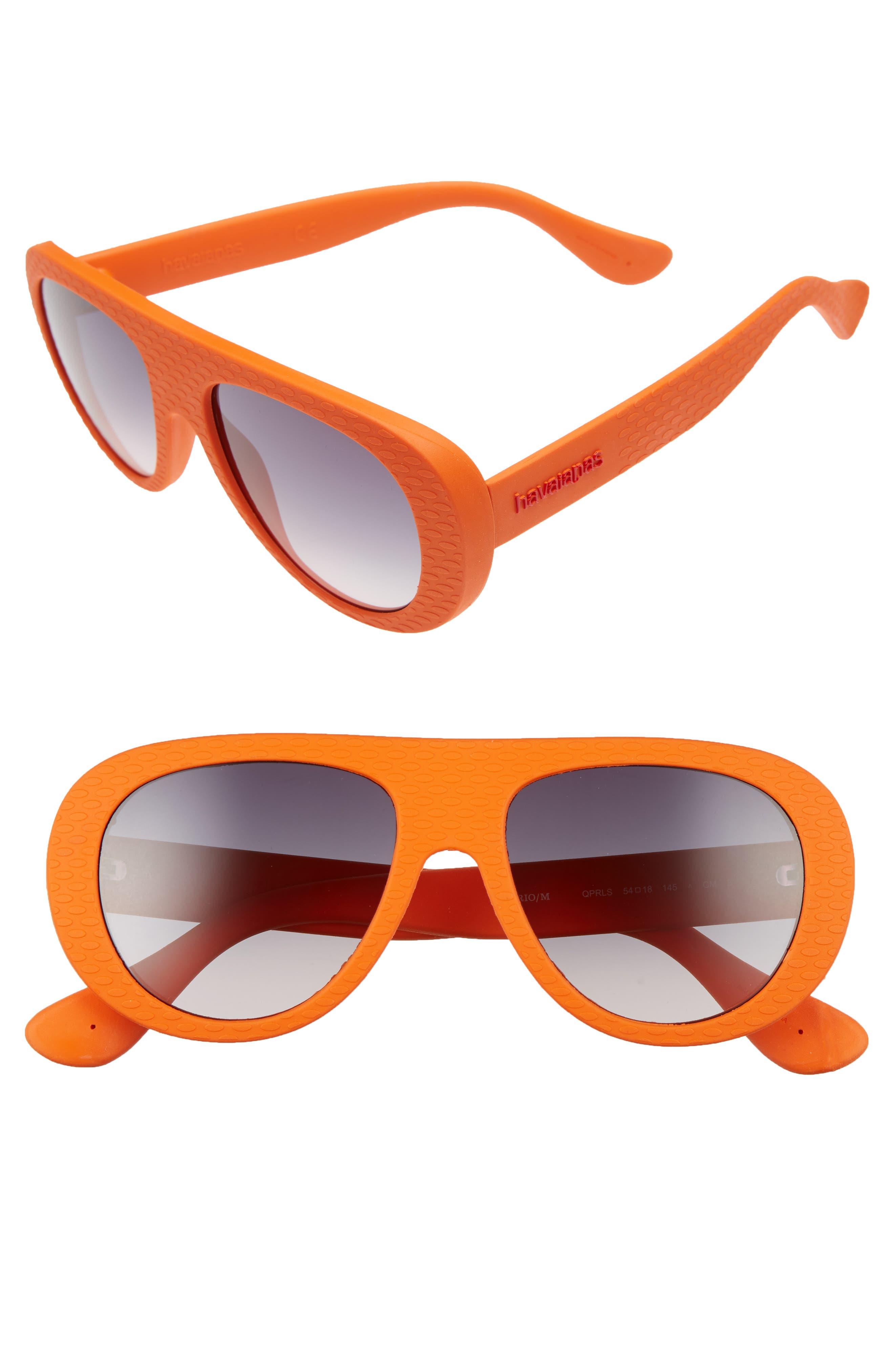 Havaianas Rio 54mm Gradient Lenses Aviator Sunglasses