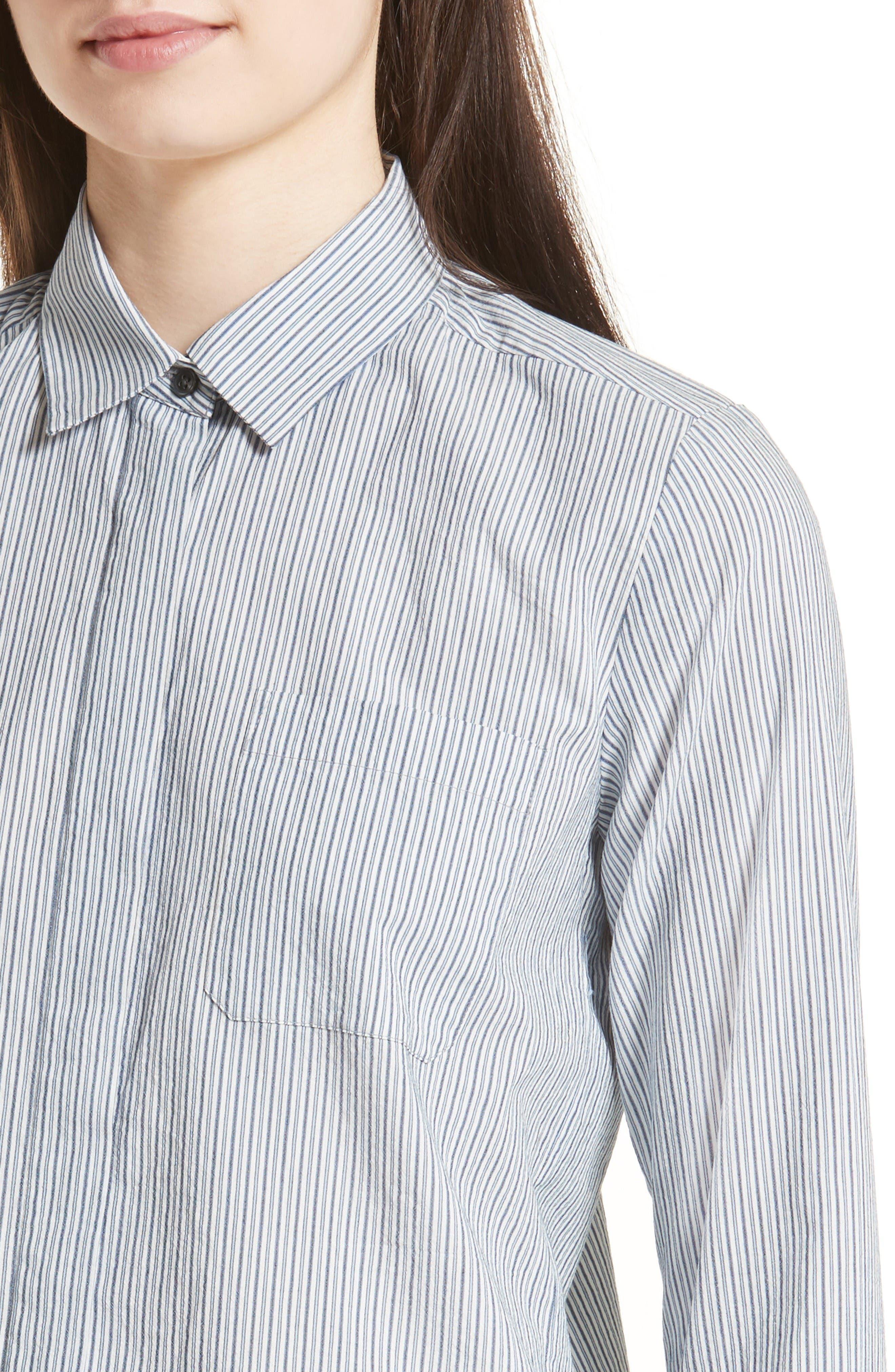 Alternate Image 5  - Vince Mix Stripe Silk Shirt