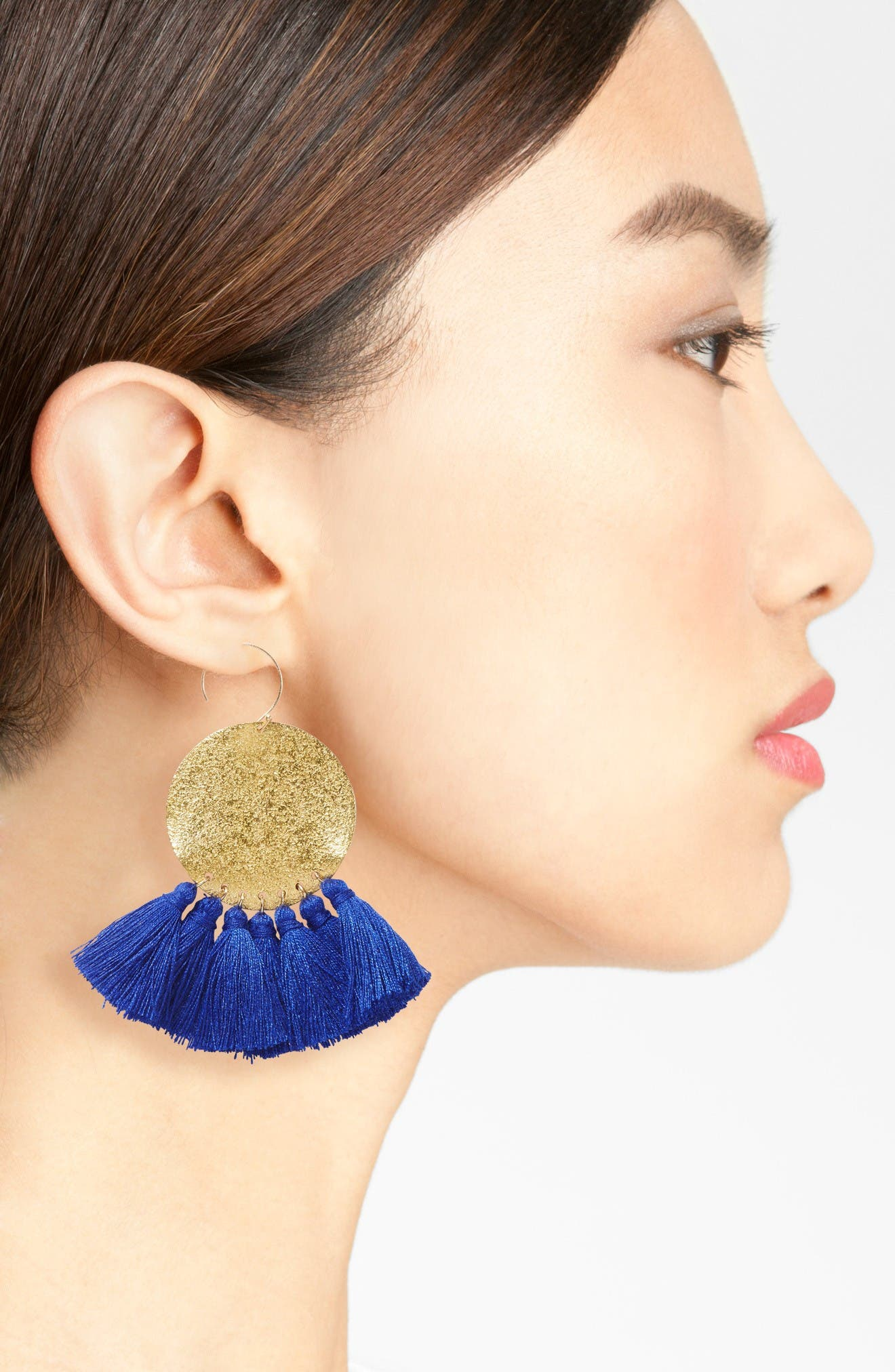 Alternate Image 2  - Serefina Lunar Tassel Earrings
