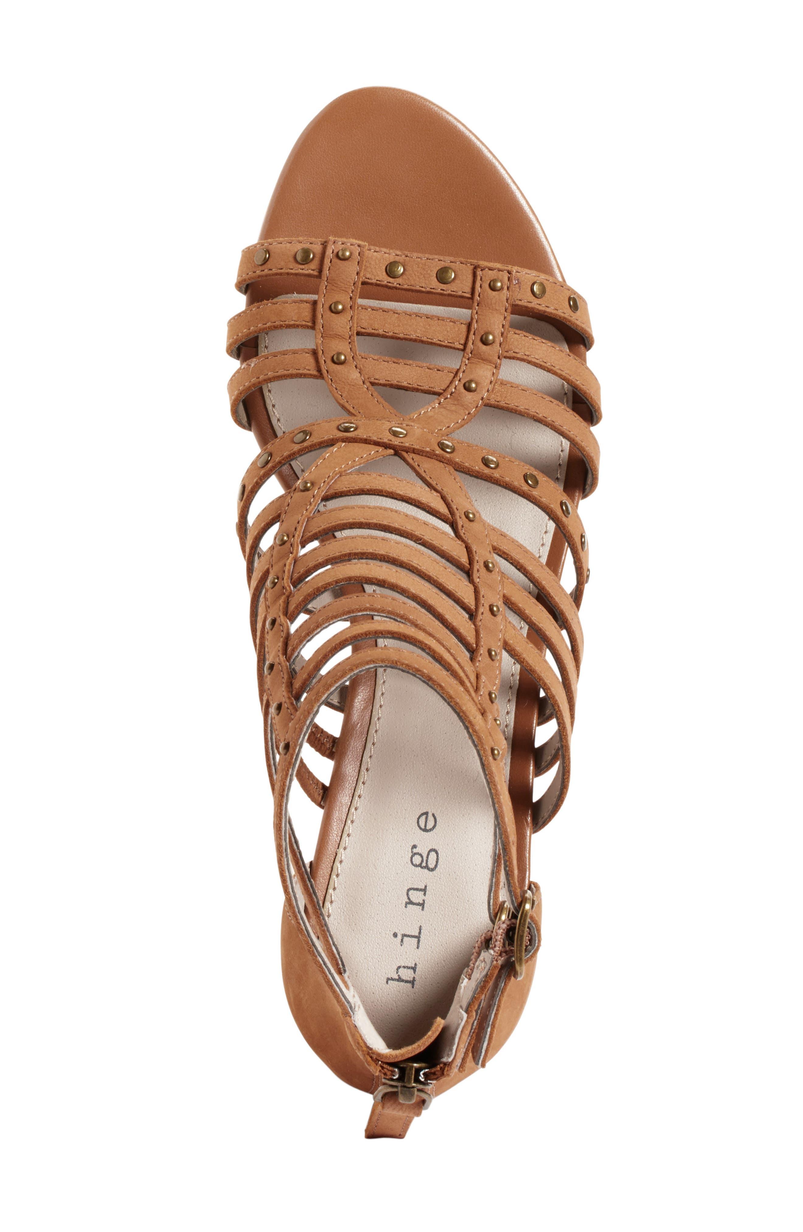 Alternate Image 3  - Hinge Nolan Strappy Wedge Sandal (Women)