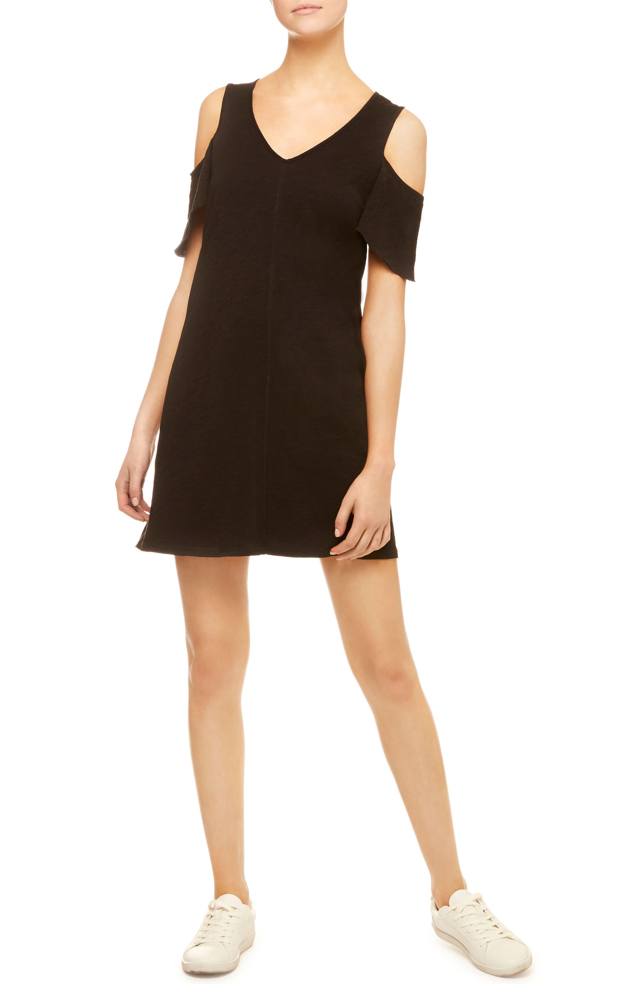 Sanctuary Jolene Cotton Jersey Cold Shoulder Dress
