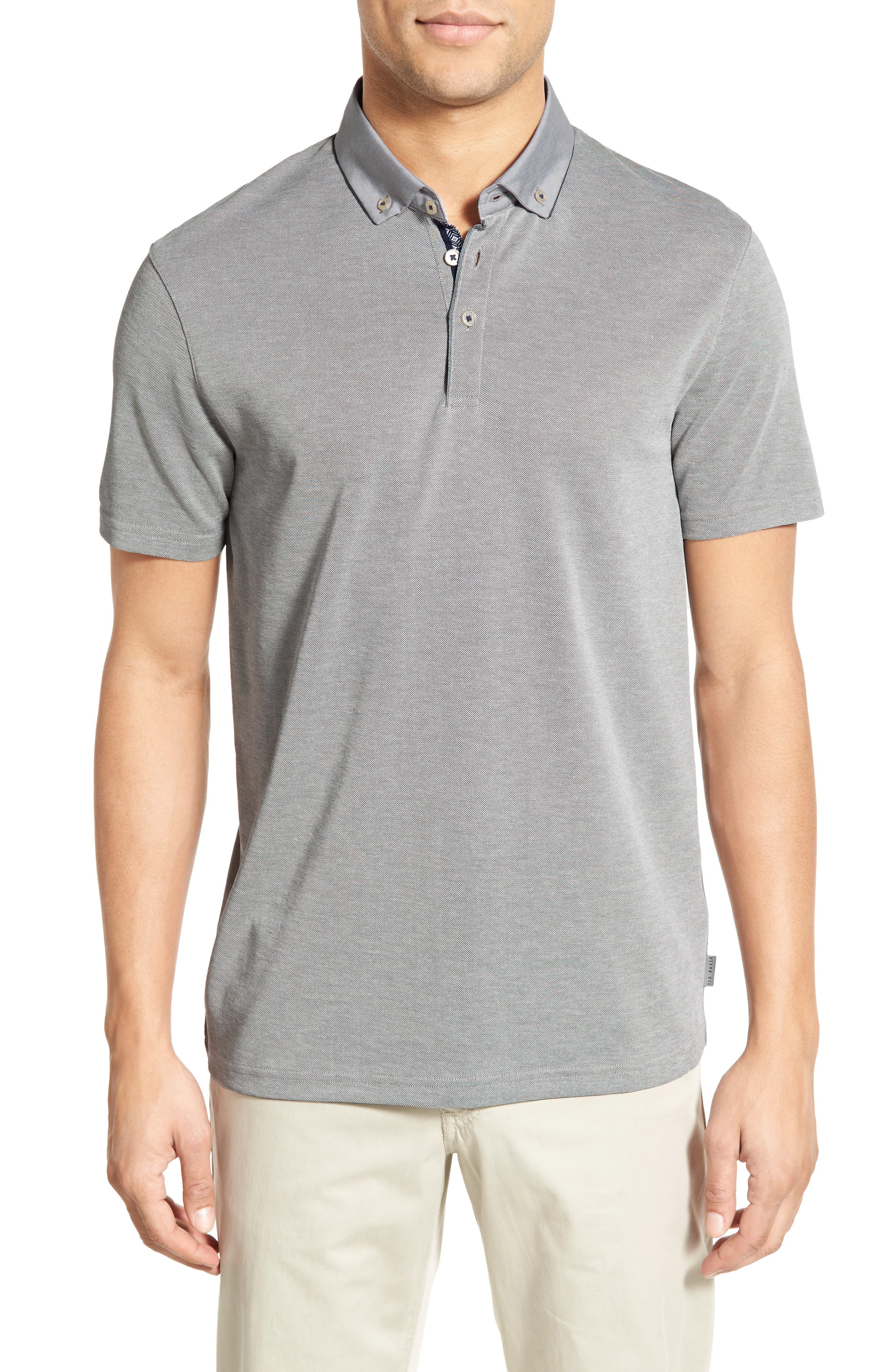 Ted Baker London 'Missow' Modern Trim Fit Piqué Polo