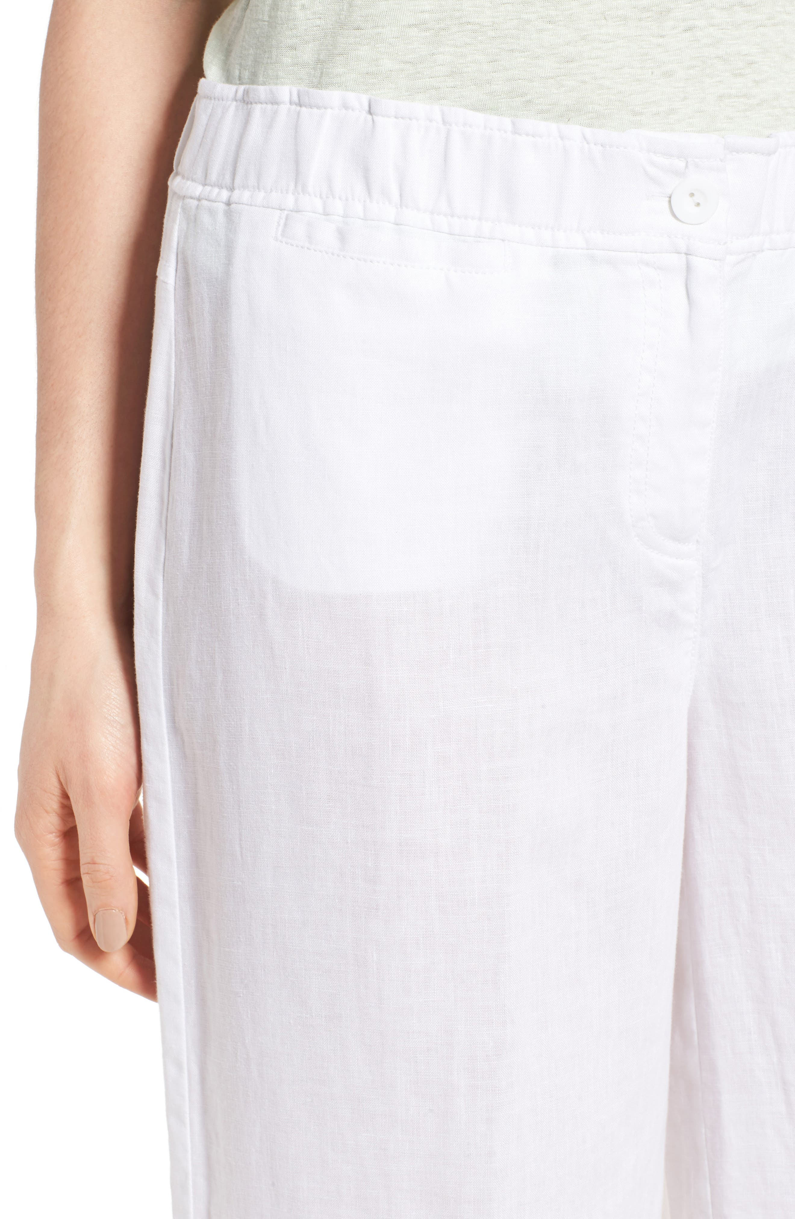 Alternate Image 4  - Eileen Fisher Organic Linen Crop Pants