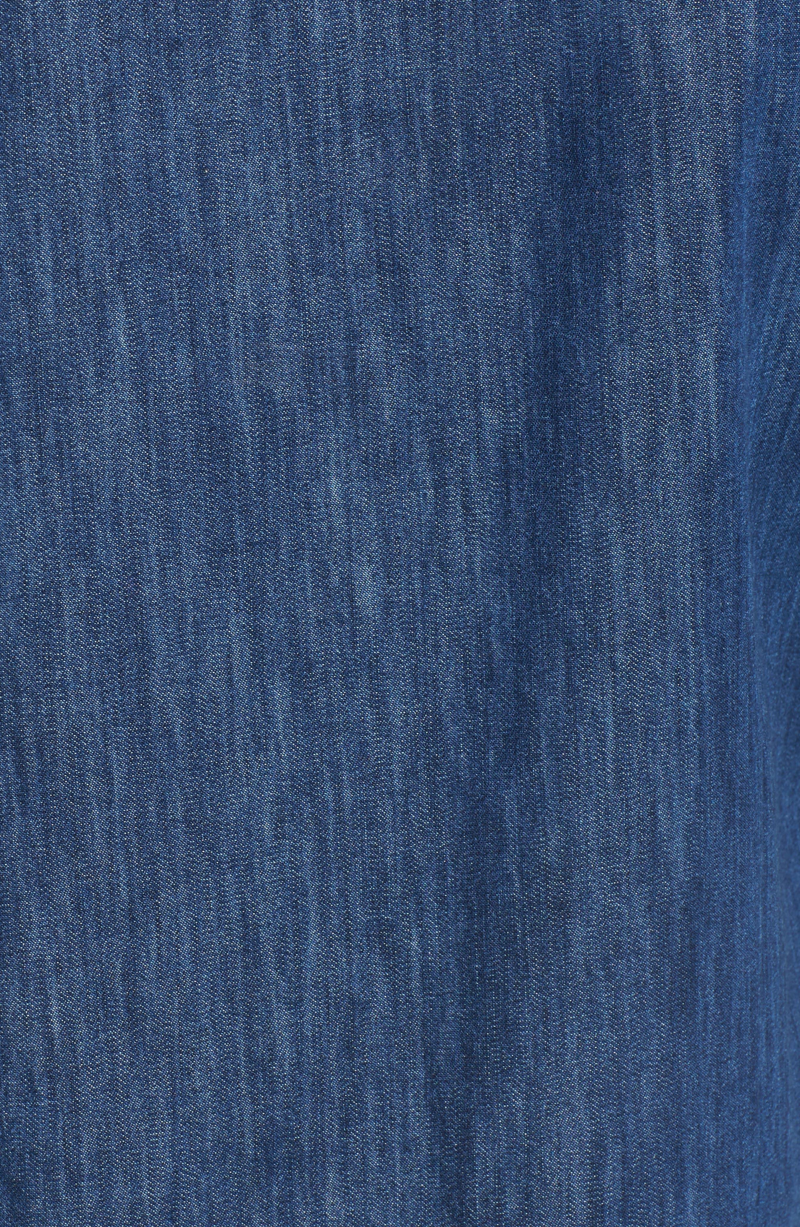 Alternate Image 5  - Mavi Jeans Bree Denim Shirtdress