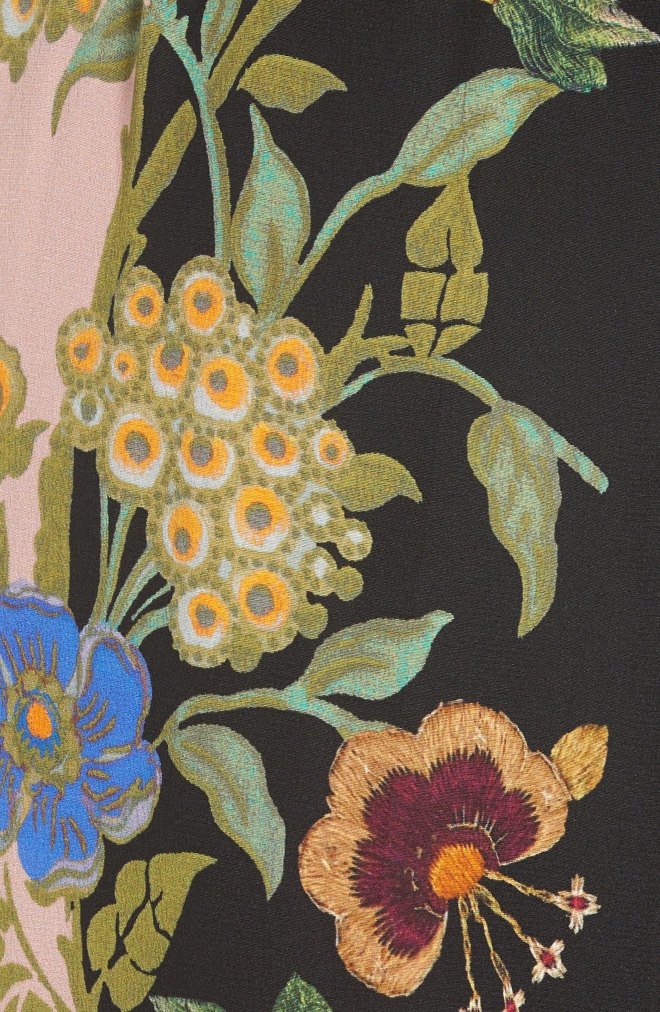 Alternate Image 3  - Etro Largo Floral Print Silk Pants