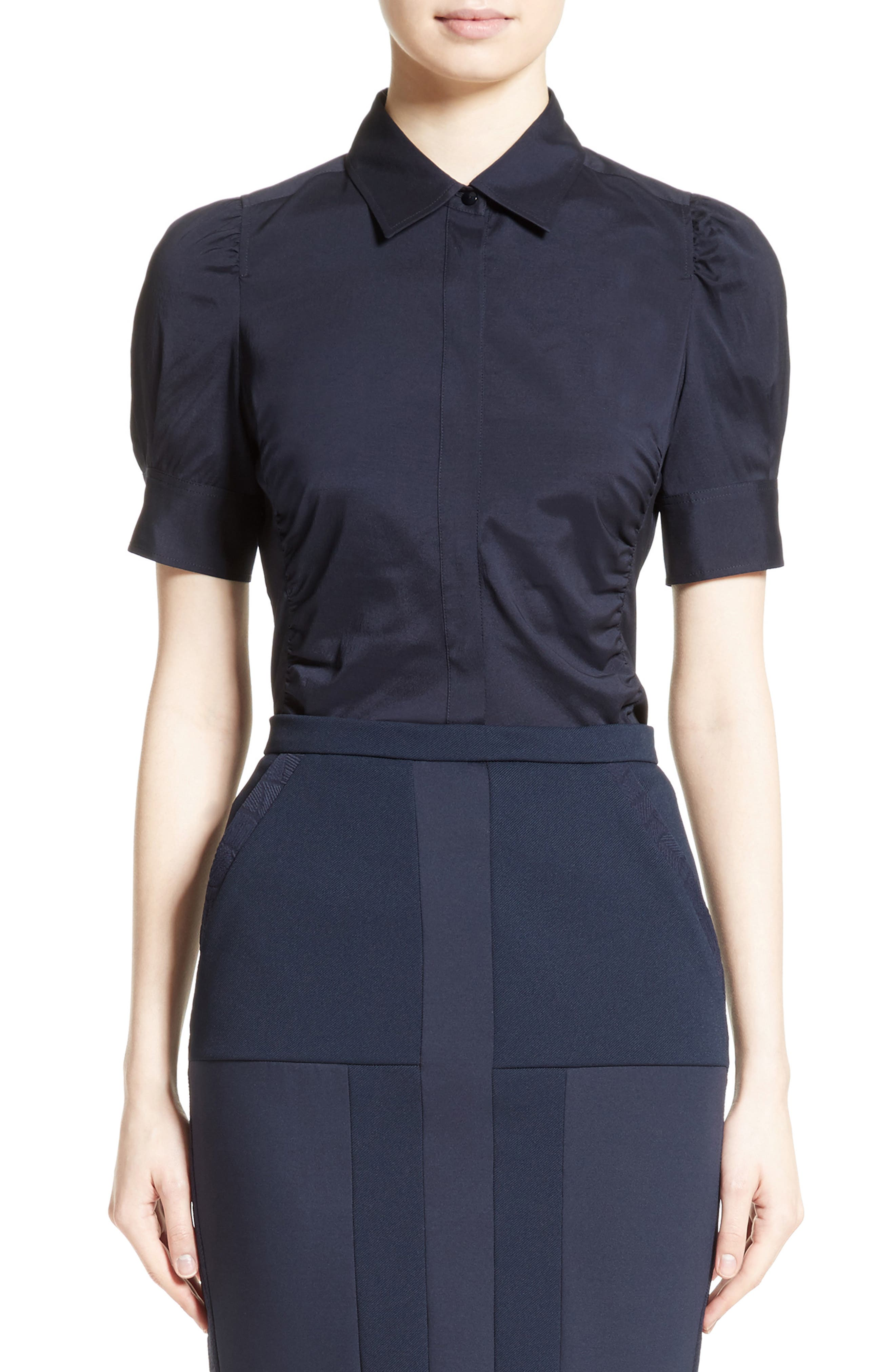 Max Mara Cinema Silk & Stretch Wool Top