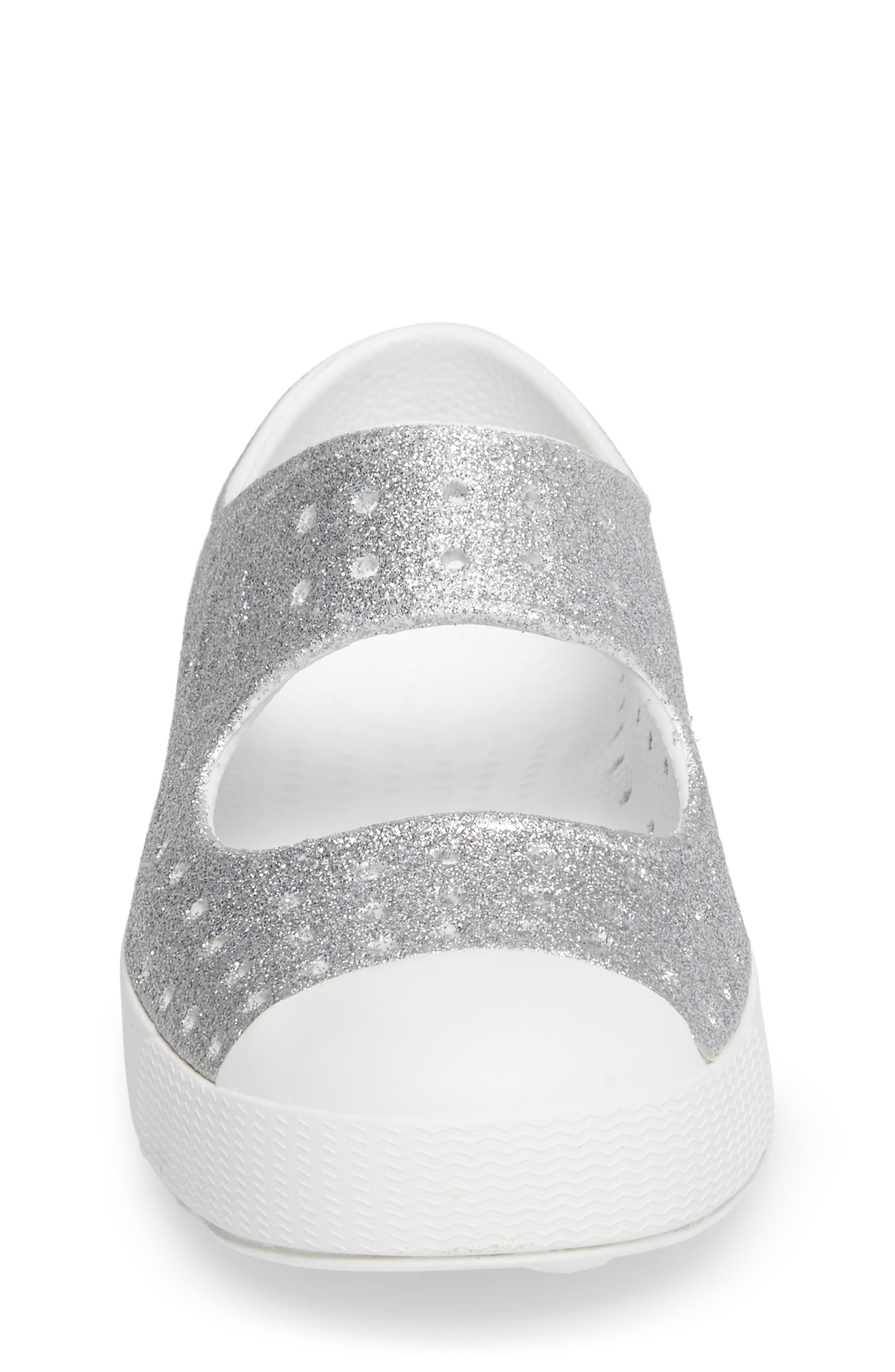 Alternate Image 4  - Native Shoes Juniper Bling Perforated Mary Jane (Baby, Walker, Toddler & Little Kid)
