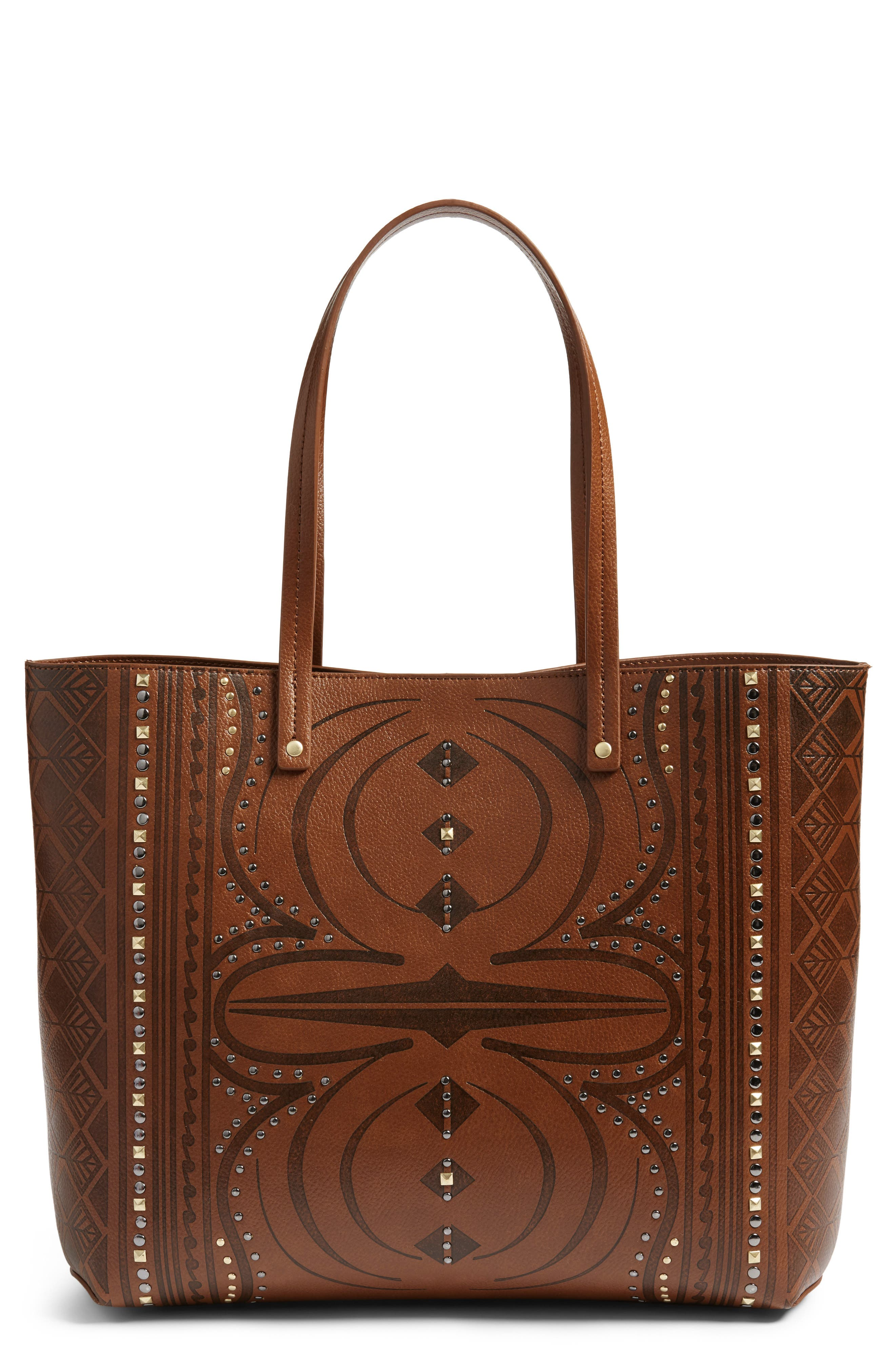 Chelsea28 Olivia Burnout Faux Leather Tote