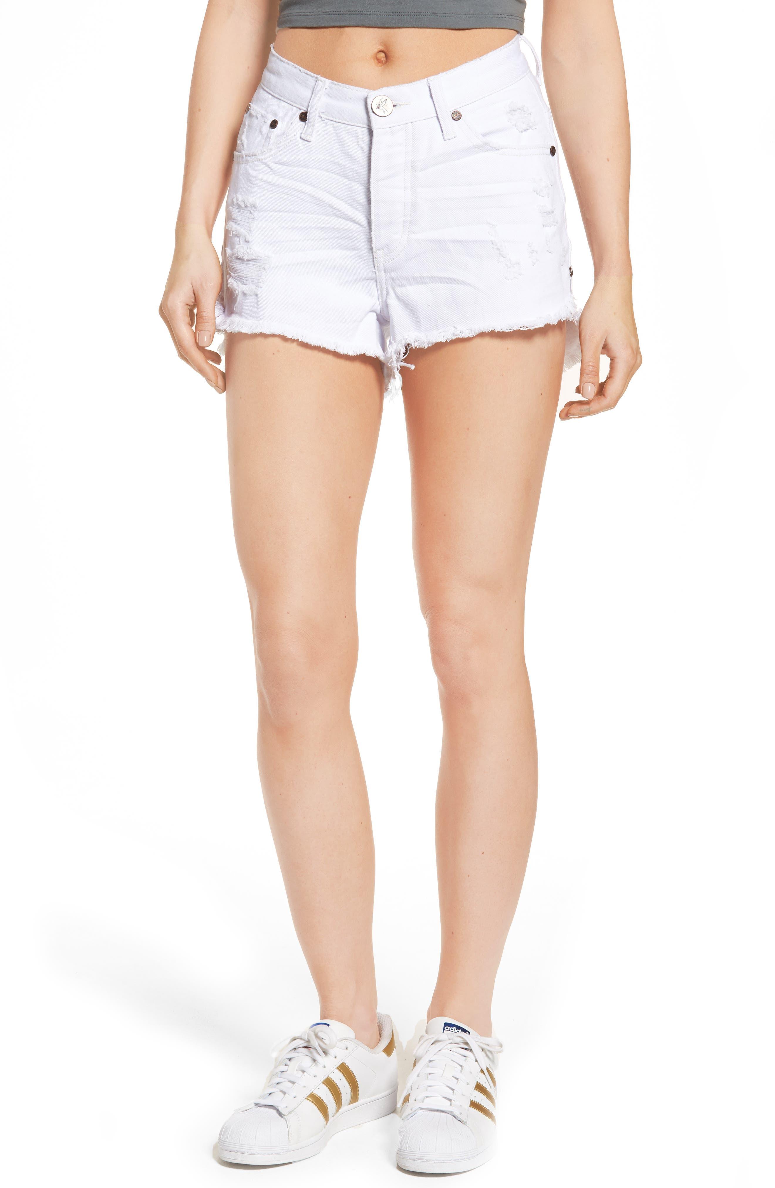 Alternate Image 1 Selected - One Teaspoon Bonita High Waist Denim Shorts