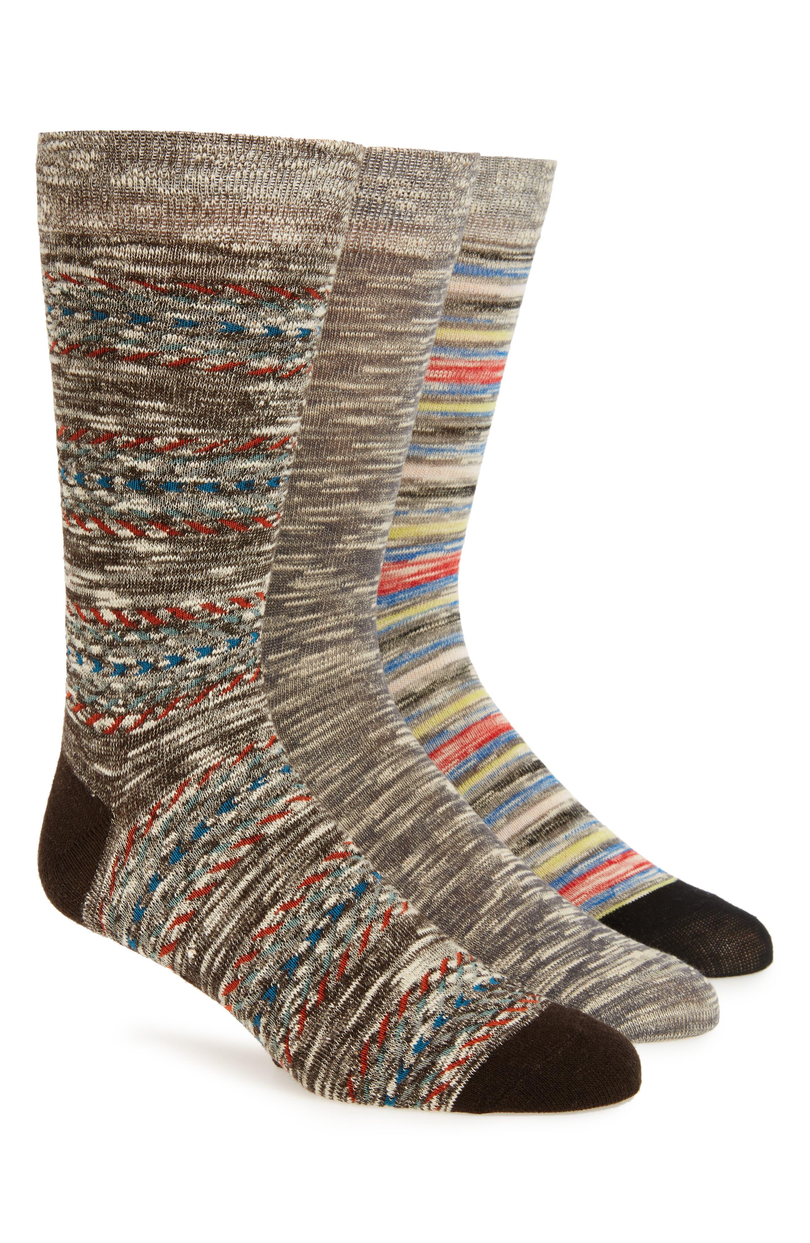 Sperry Oasis Weave 3-Pack Socks