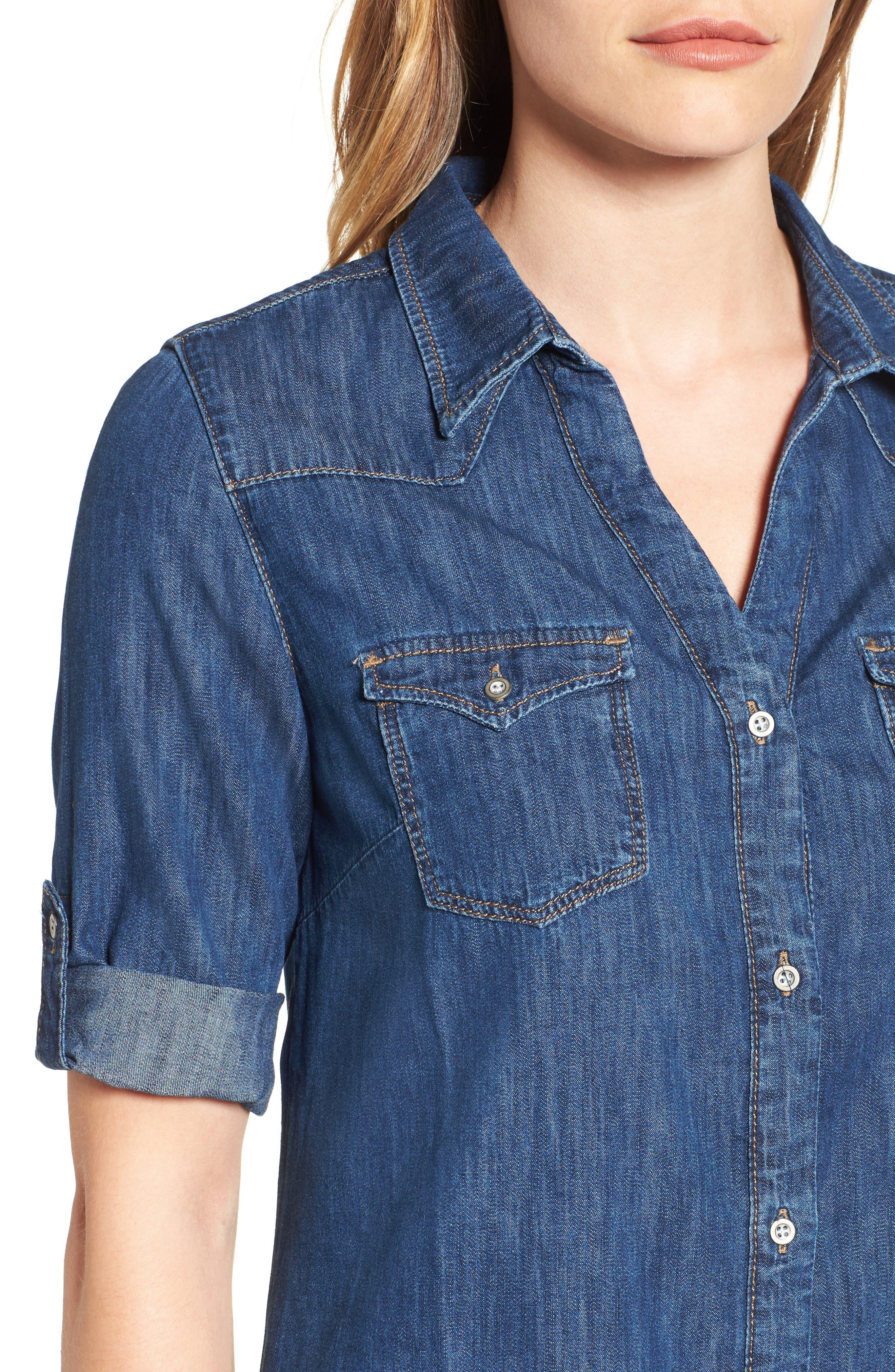 Alternate Image 4  - Mavi Jeans Bree Denim Shirtdress