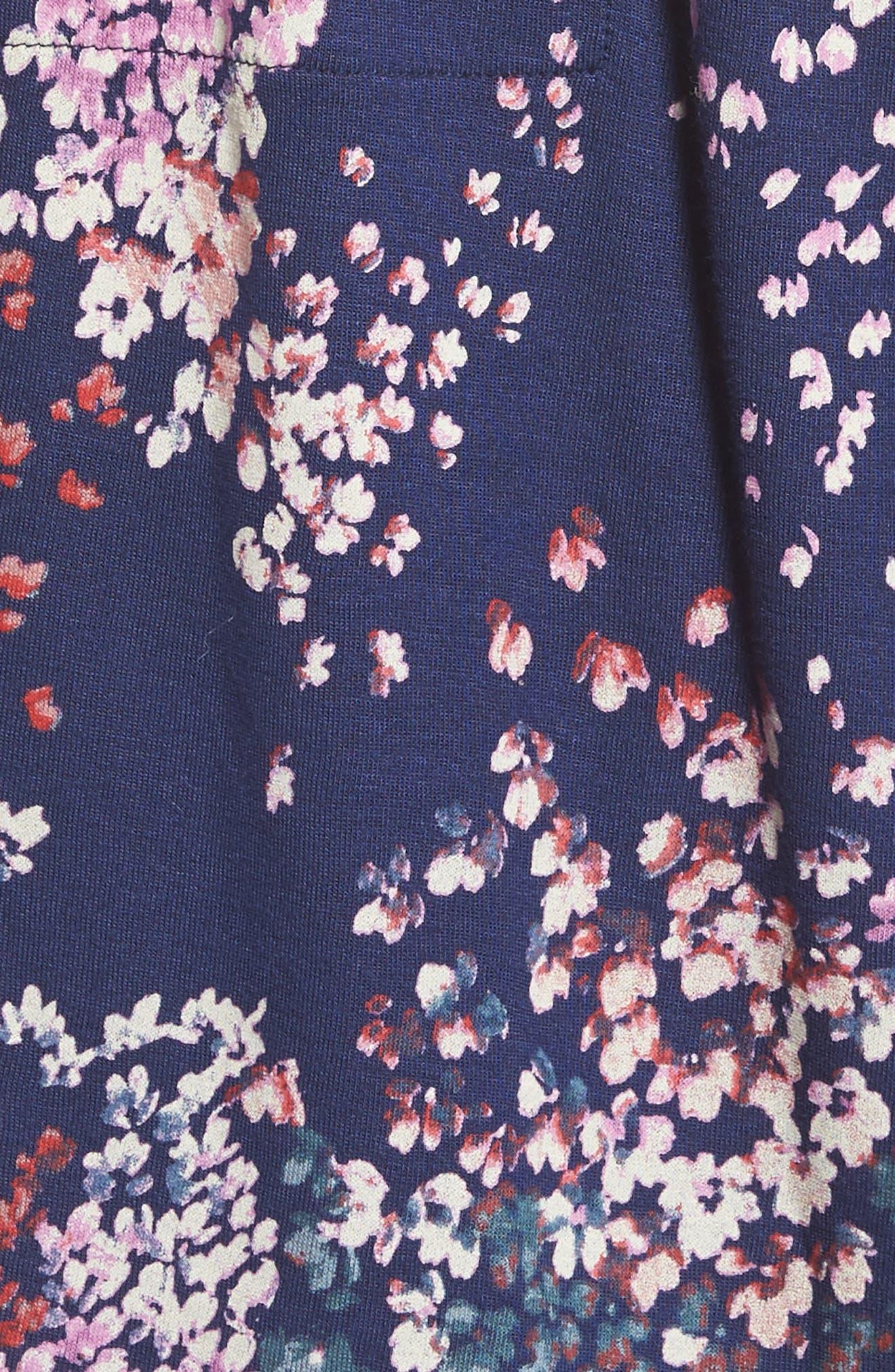 Alternate Image 5  - Lucky Brand Nora Drawstring Print Knit Dress