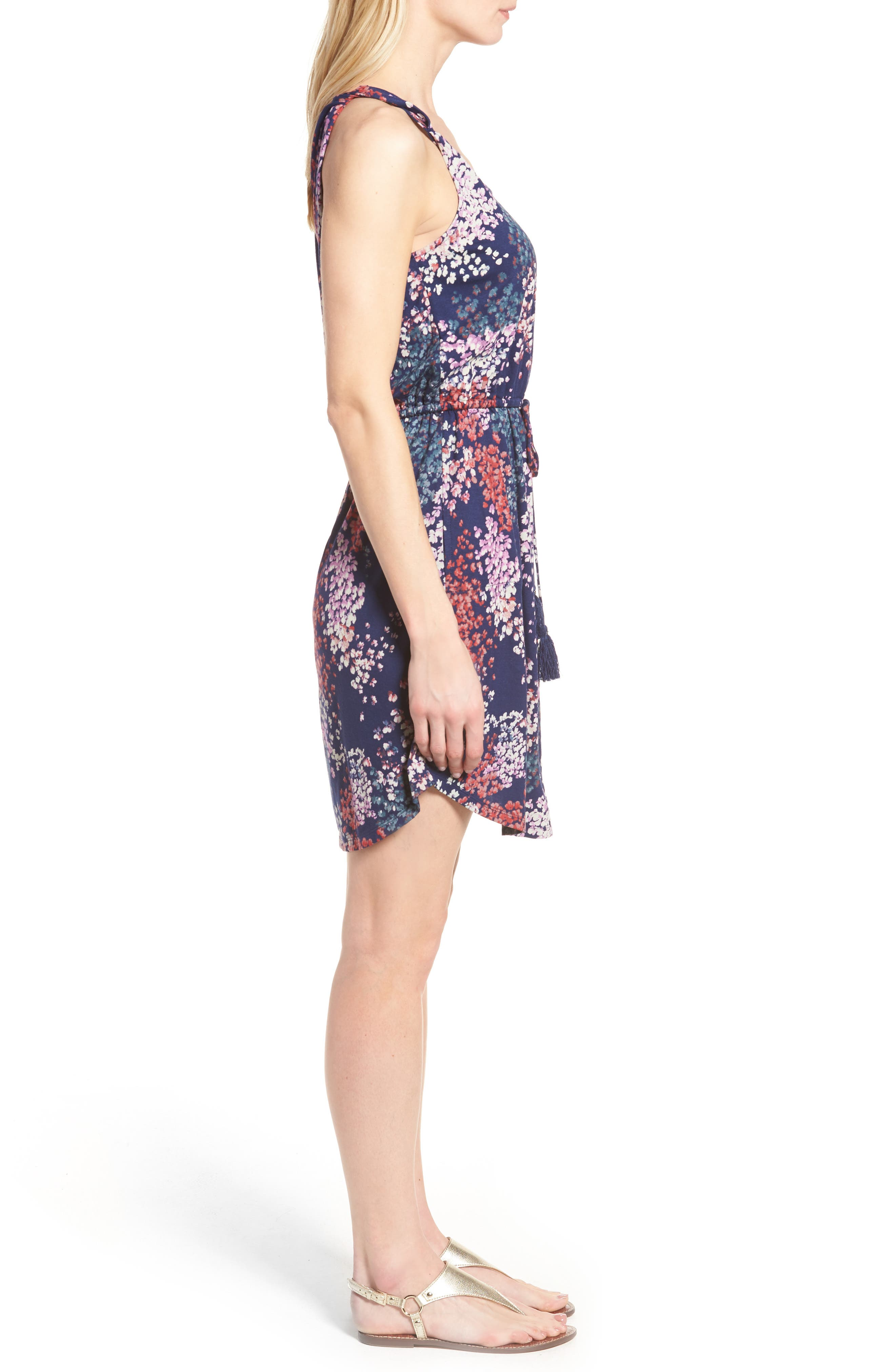 Alternate Image 3  - Lucky Brand Nora Drawstring Print Knit Dress