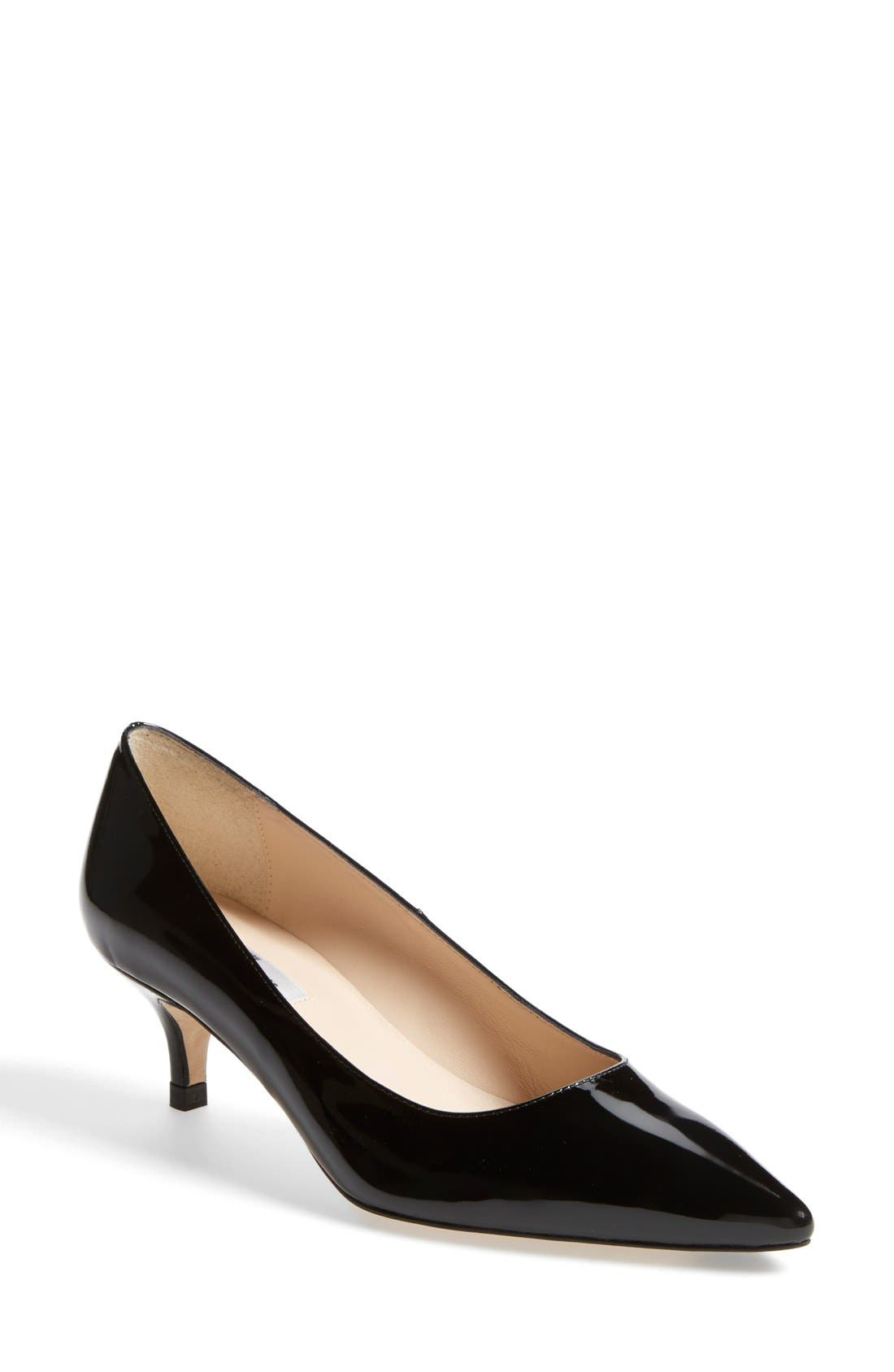 L.K. BENNETT 'Minu' Patent Leather Pointy Toe Pump