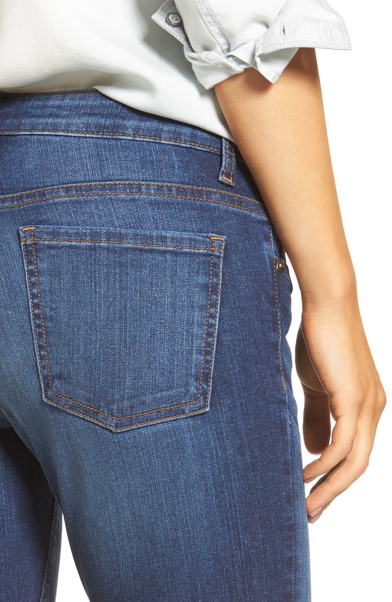Alternate Image 4  - KUT from the Kloth Donna Ripped Crop Jeans (Peaceable) (Regular & Petite)