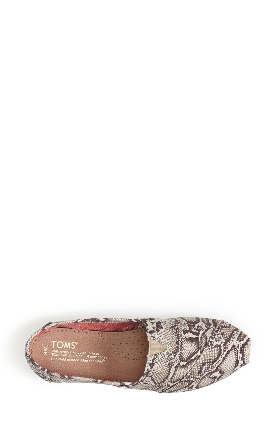 Alternate Image 3  - TOMS 'Classic - Snake' Slip-On (Women)