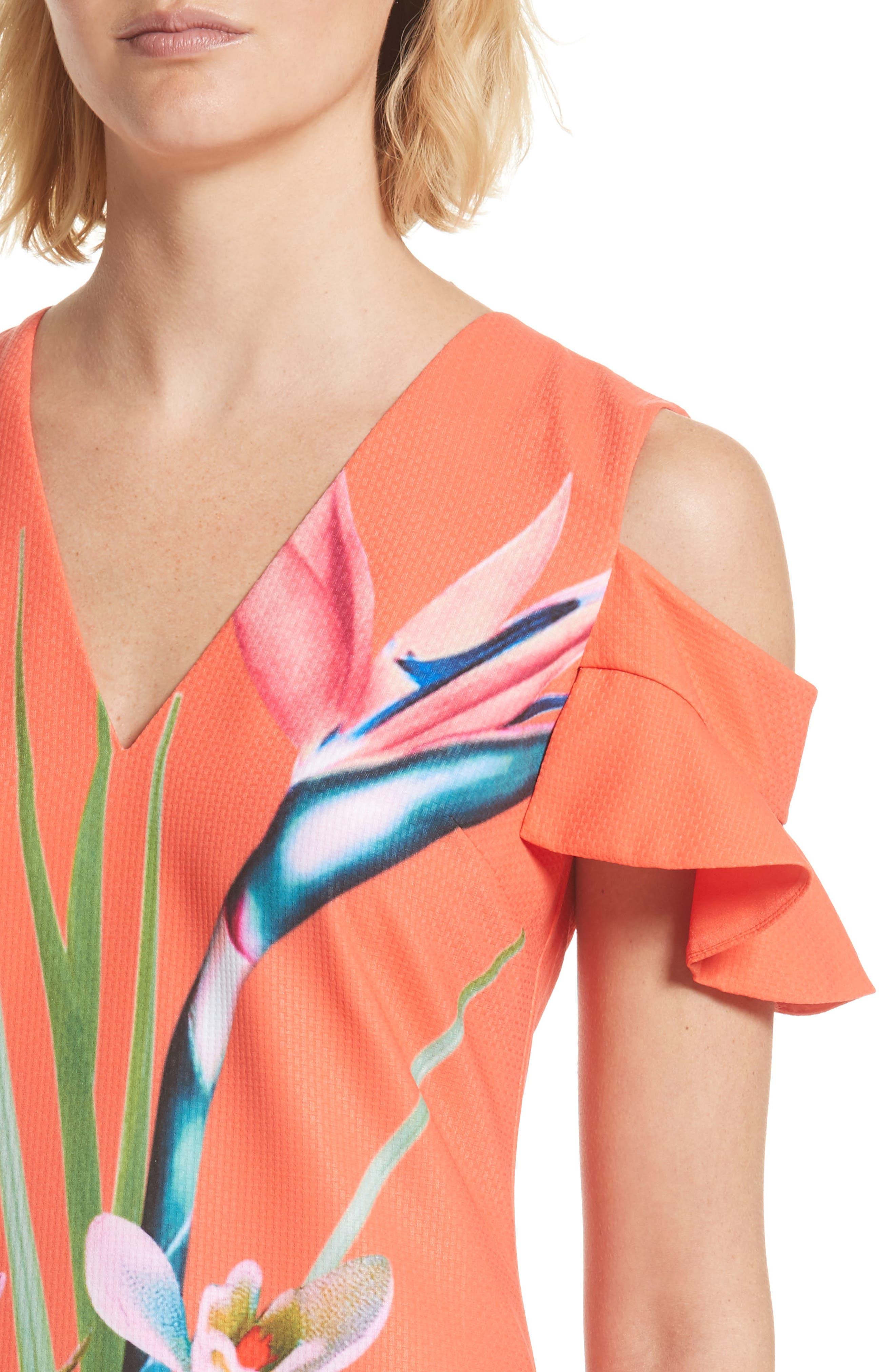 Alternate Image 5  - Ted Baker London Leea Cold Shoulder Shift Dress