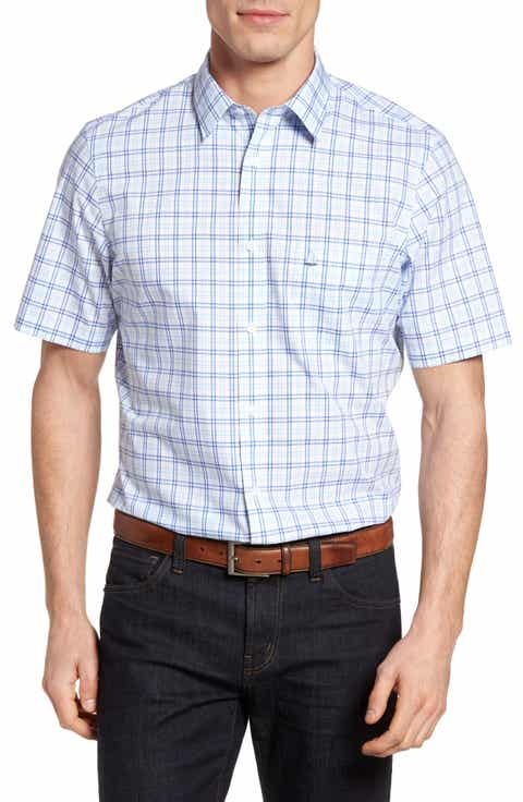 Nordstrom Men's Shop Smartcare™ Check Sport Shirt (Big)