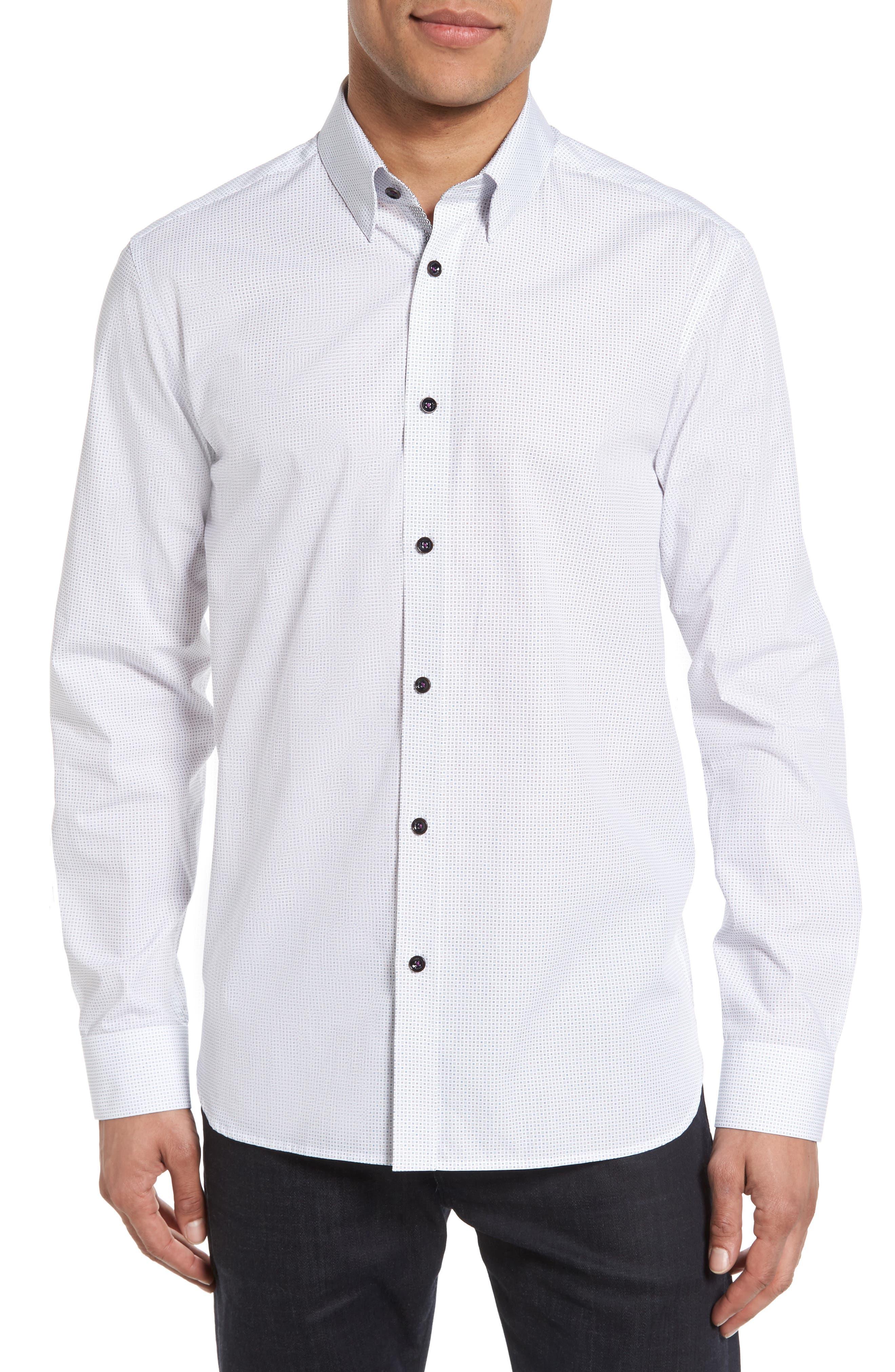 Ted Baker London Arkells Modern Slim Fit Print Sport Shirt